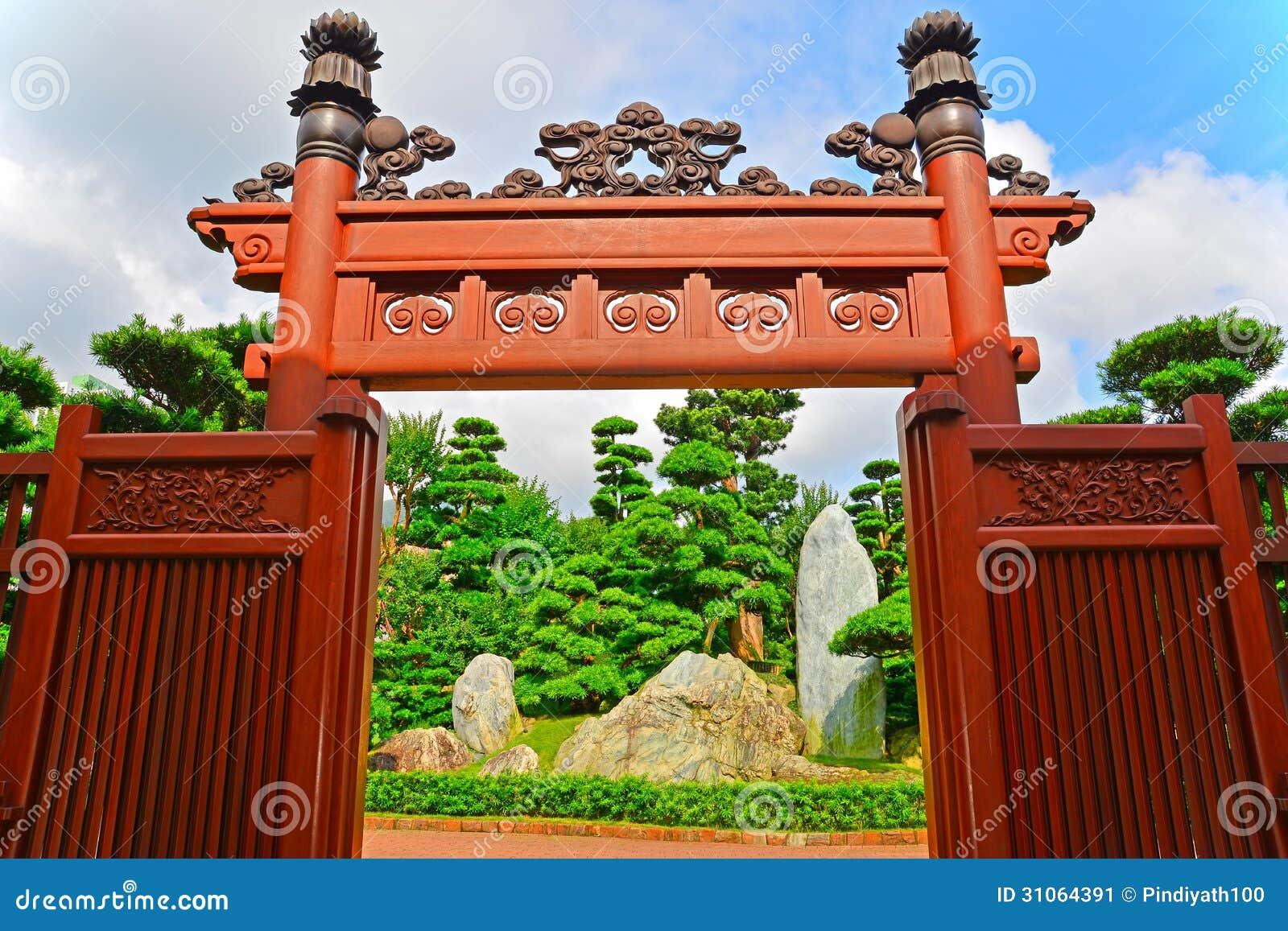 Zen Garden Entrance Stock Image Image Of Tranquil Tourism 31064391