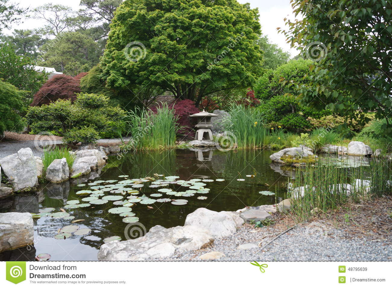 Zen garden stock photo image 48795639 for Garden pool zen area
