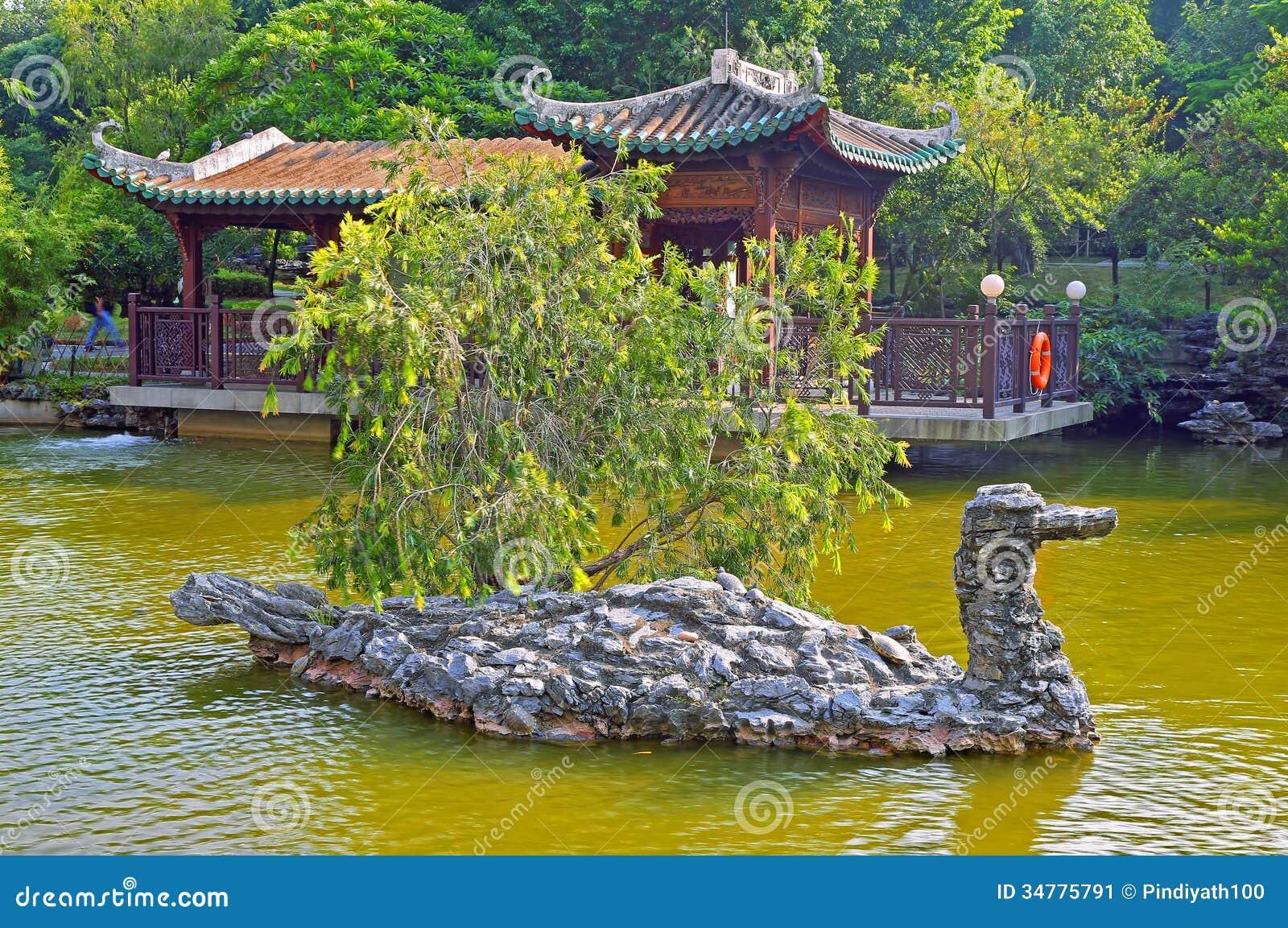 Zen garden and pond stock image image 34775791 for Zen garden pond
