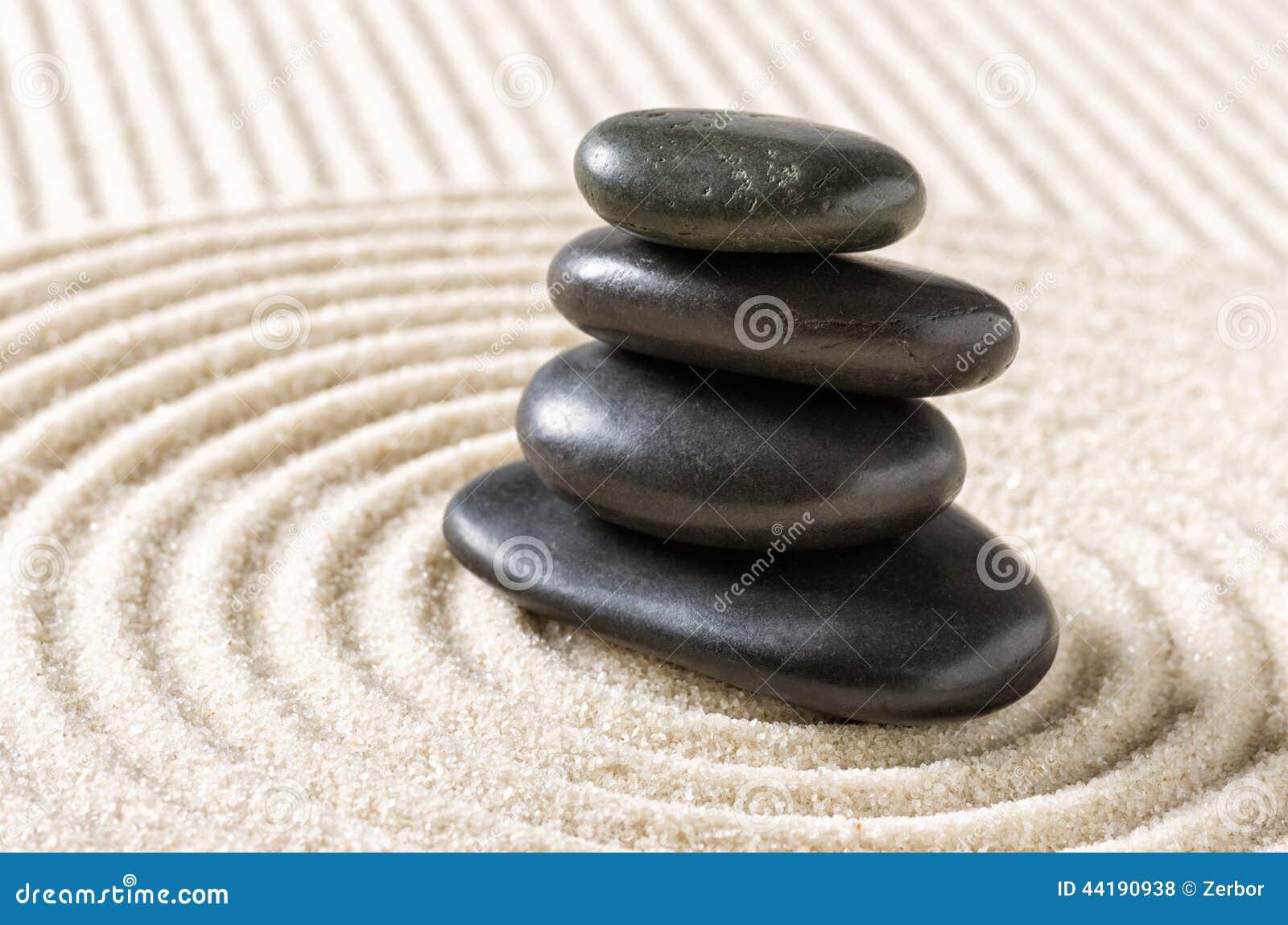 Zen garden with stacked black pebbles stock photo image of black zen garden with stacked black pebbles workwithnaturefo