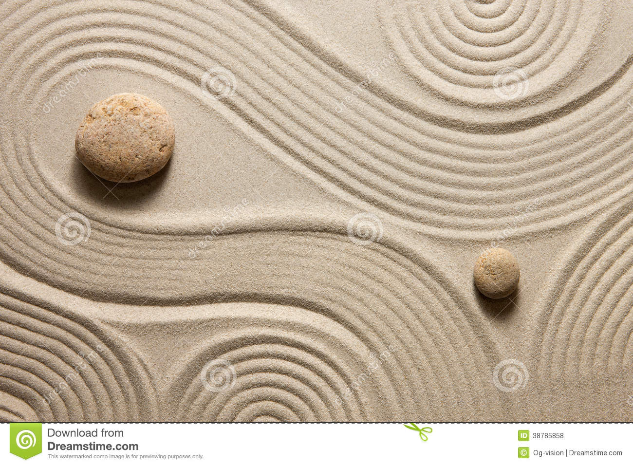 Japanese zen gardens top view - Garden Raked Sand Top View Zen