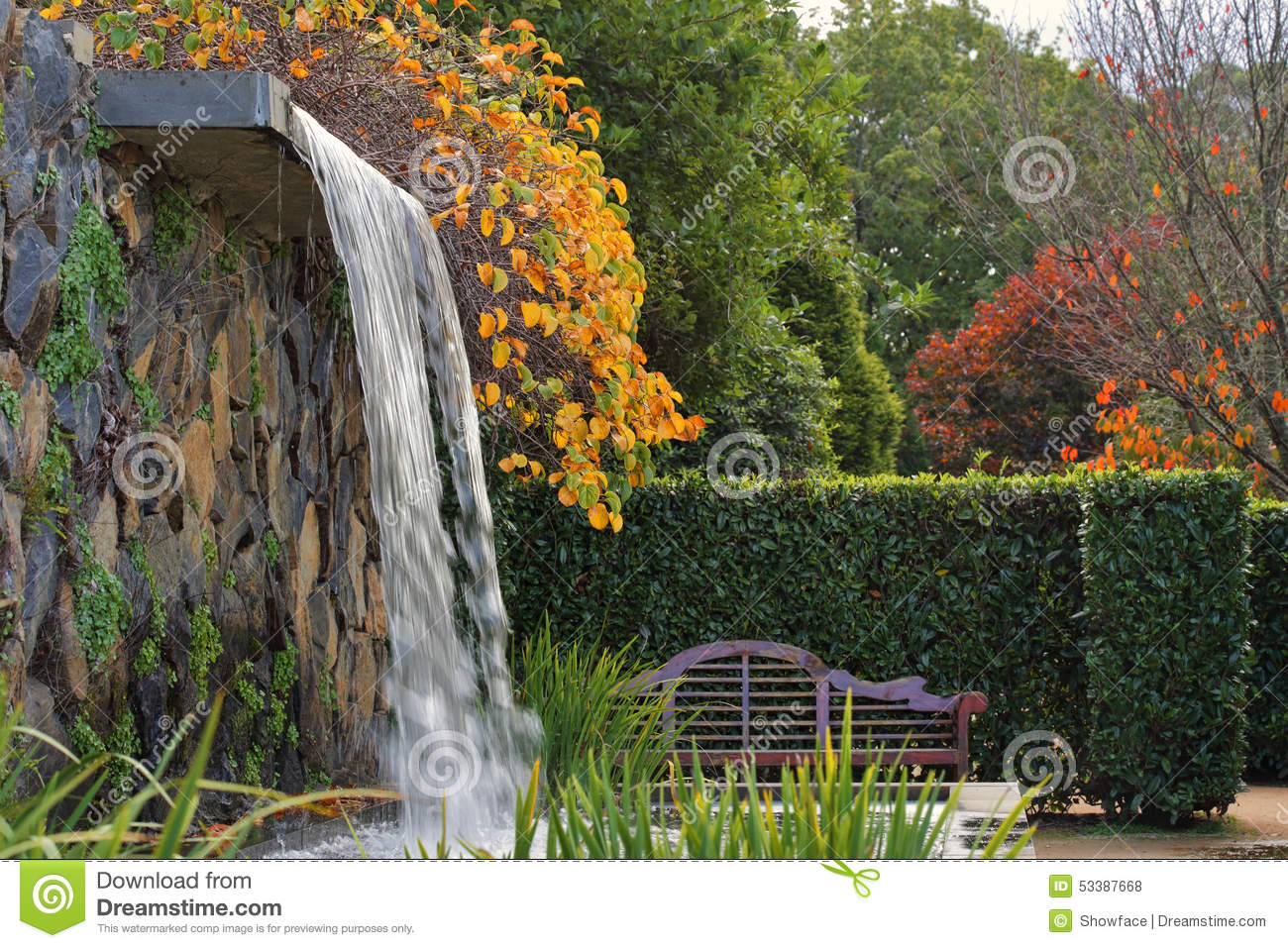 Royalty Free Stock Photo. Download Zen Garden With Waterfall ...