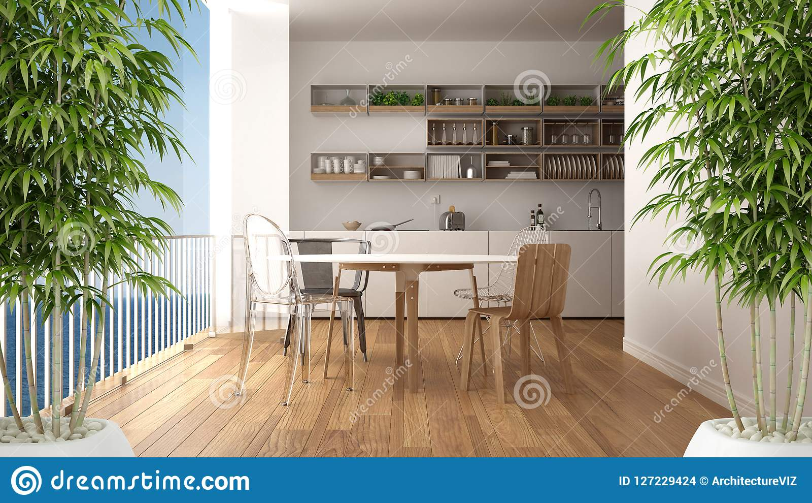 Zen Interior With Potted Bamboo Plant Natural Interior Design