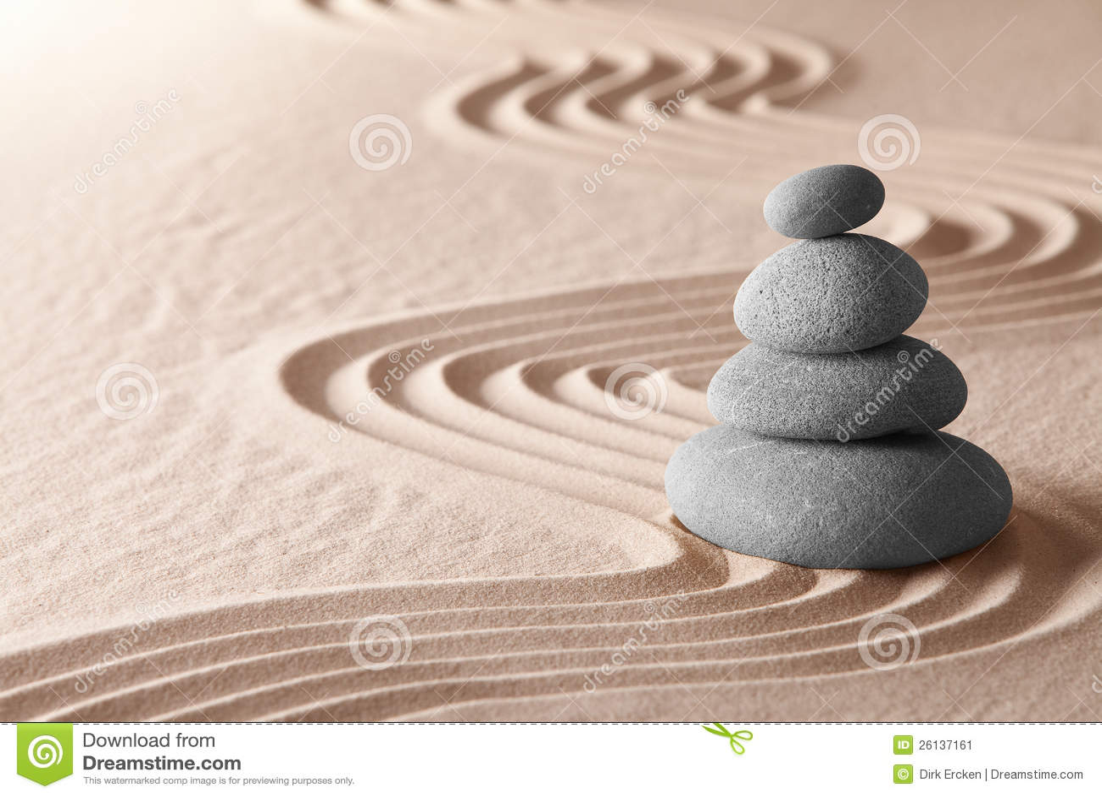 Japanese rock garden texture - Zen Meditation Garden Simplicity Harmony Stock Image