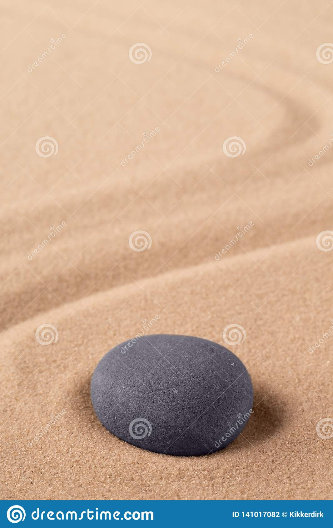 Zen meditation stone to focus and concentrate for a quit peace of mind