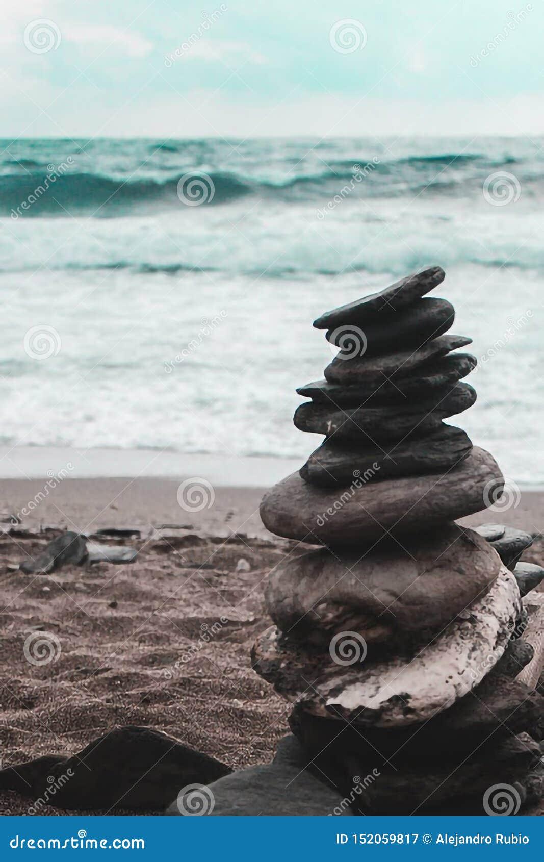 Zen momenty przy plażą