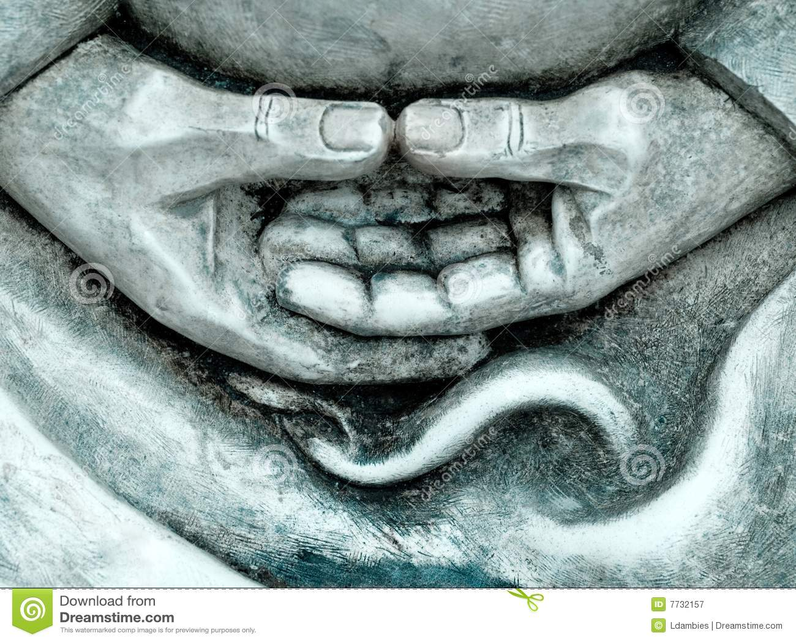 Download Zen statue details stock image. Image of statue, details - 7732157