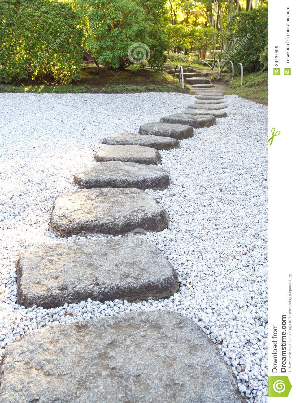 Zen stone path stock photo image of nature park for Japanese garden stones
