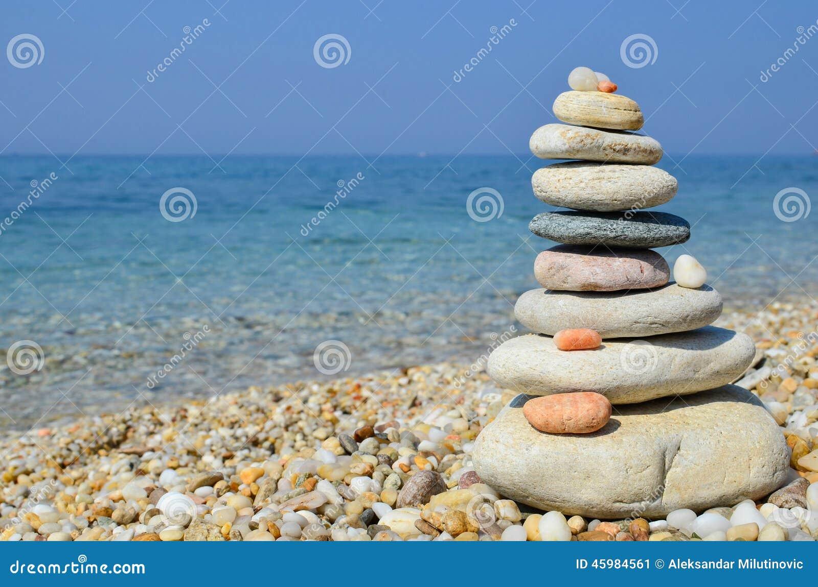 Zen stones on a beach