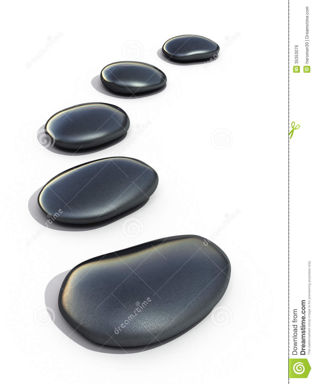 Stepping Stones Clip Art : Zen stones stock illustration image of clipping