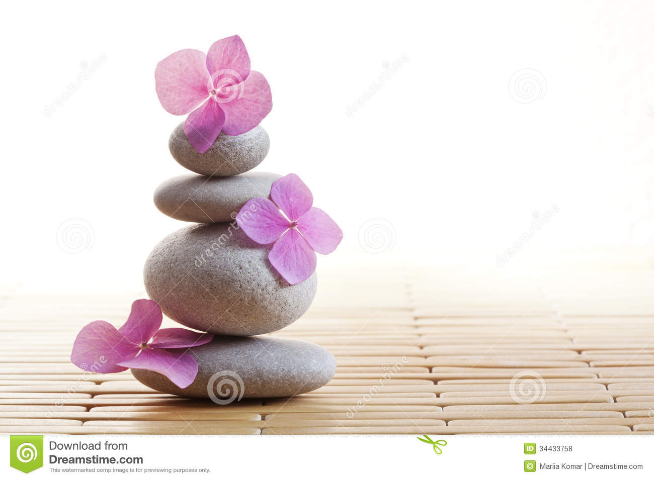 Zen Stones And Flowers Royalty Free Stock Photos - Image: 34433758