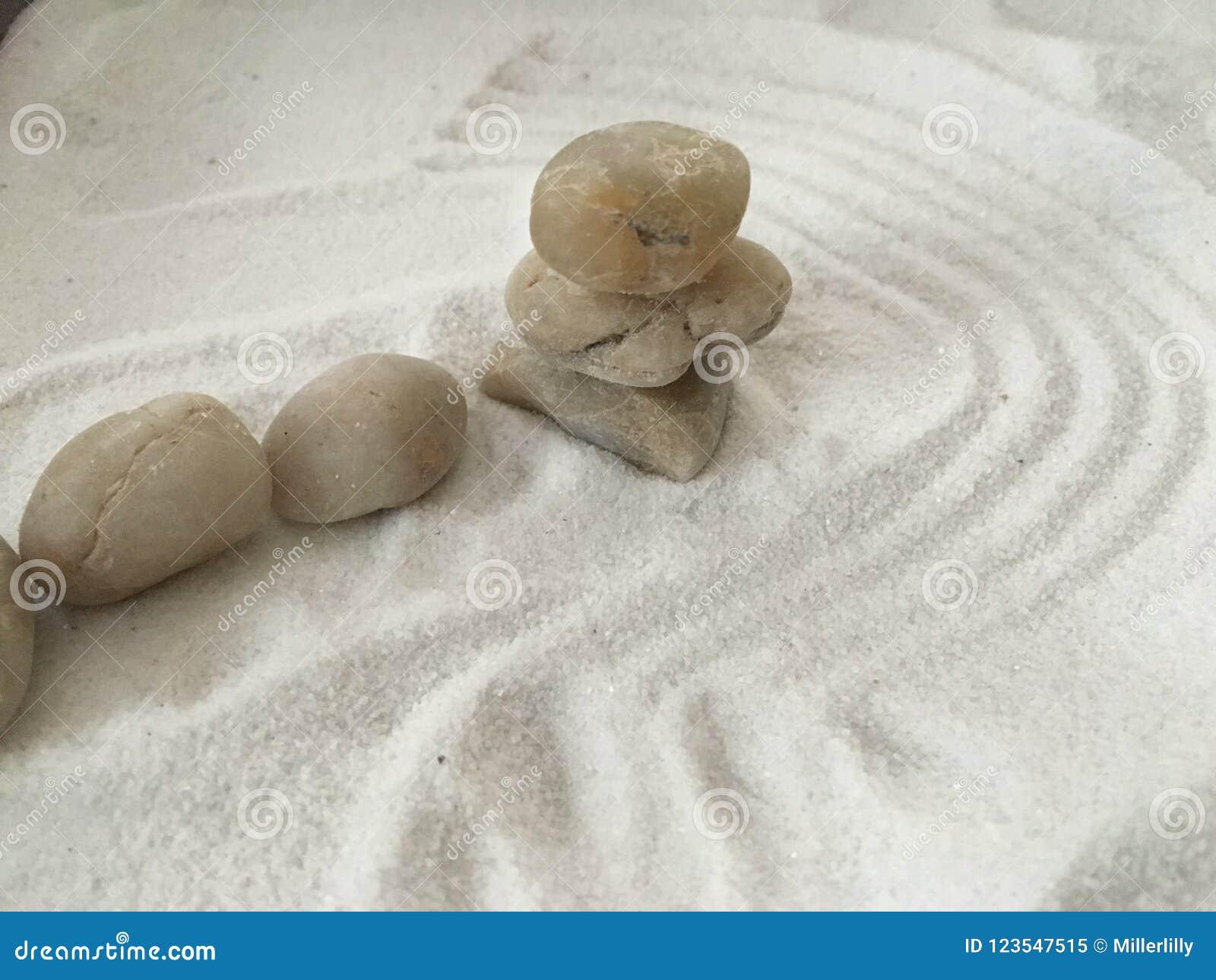 Zen Stones On The Sand Wallpaper Stock Image Image Of