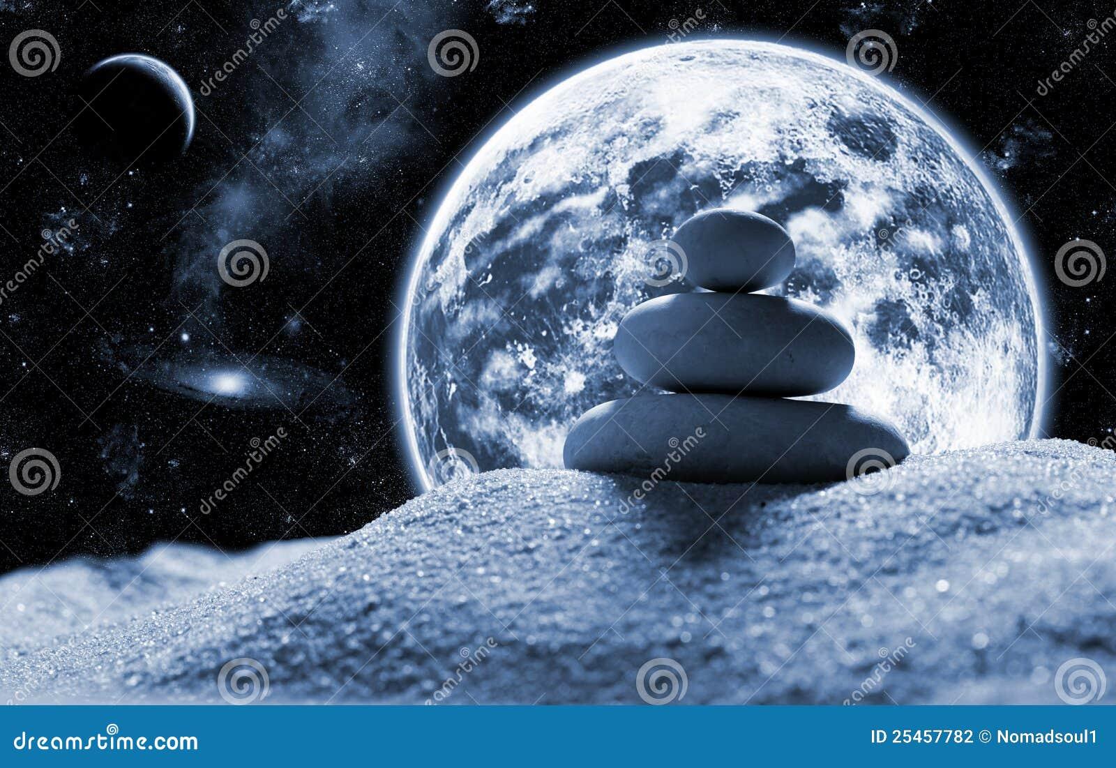 Zen stones in space stock photo. Image of image, desert ...