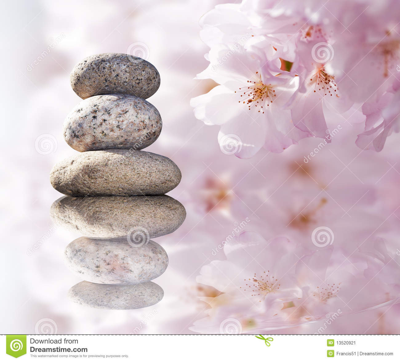 Zen Stones And Spring Flowers Stock Image Image 13520921