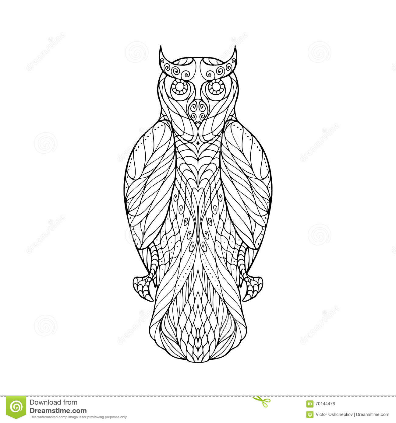 anti stress coloring pages owls - photo#14
