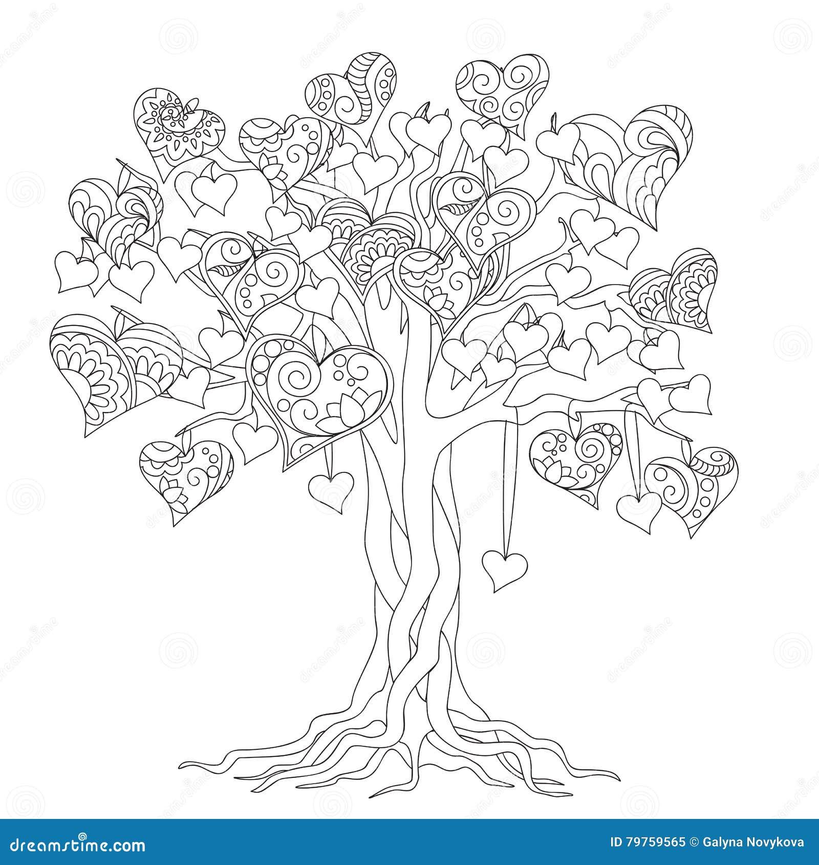 Zen Tree Of Love Stock Vector Illustration Of Logo