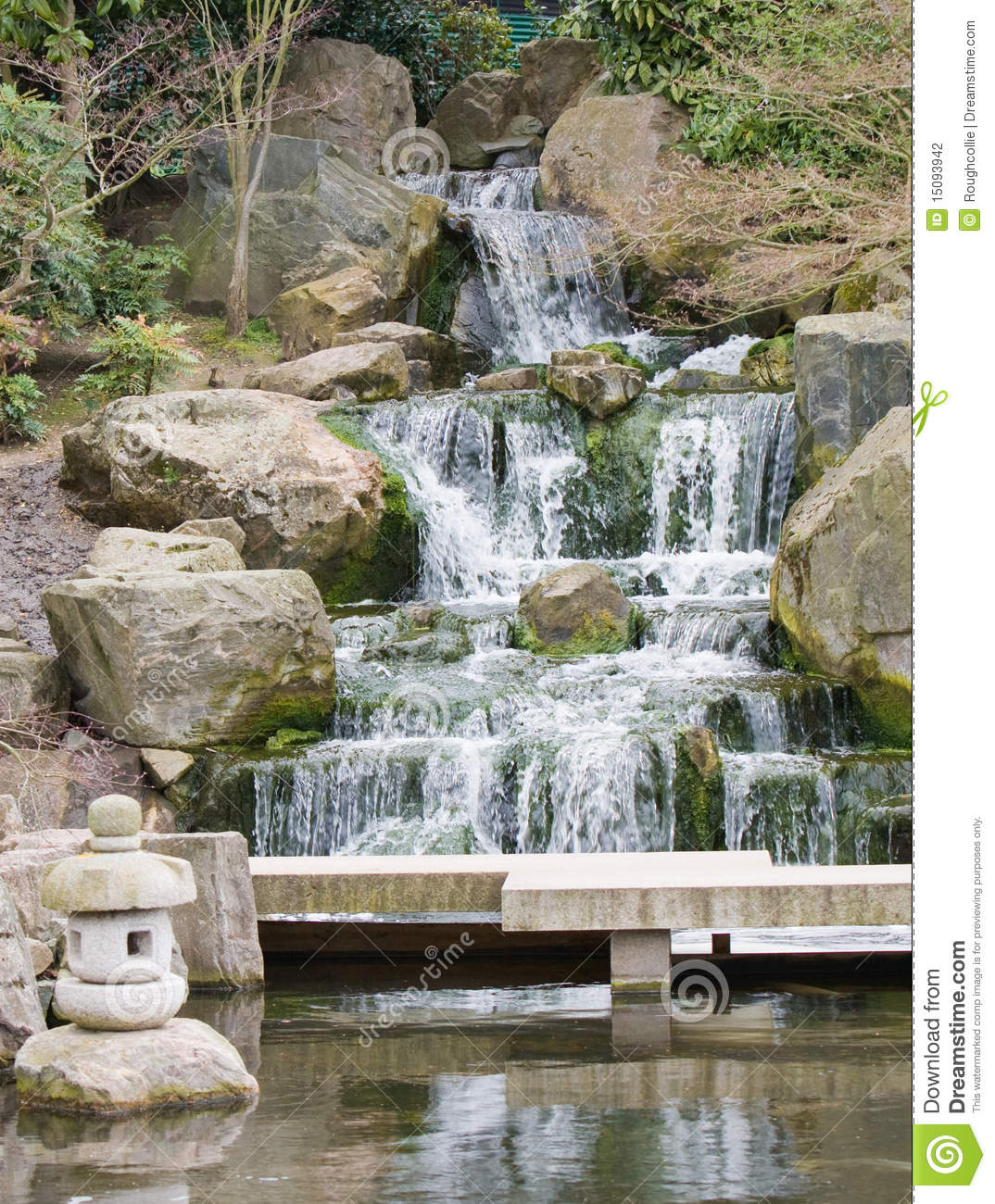 Zen waterfall stock photography image 15093942 for Zen garden waterfall
