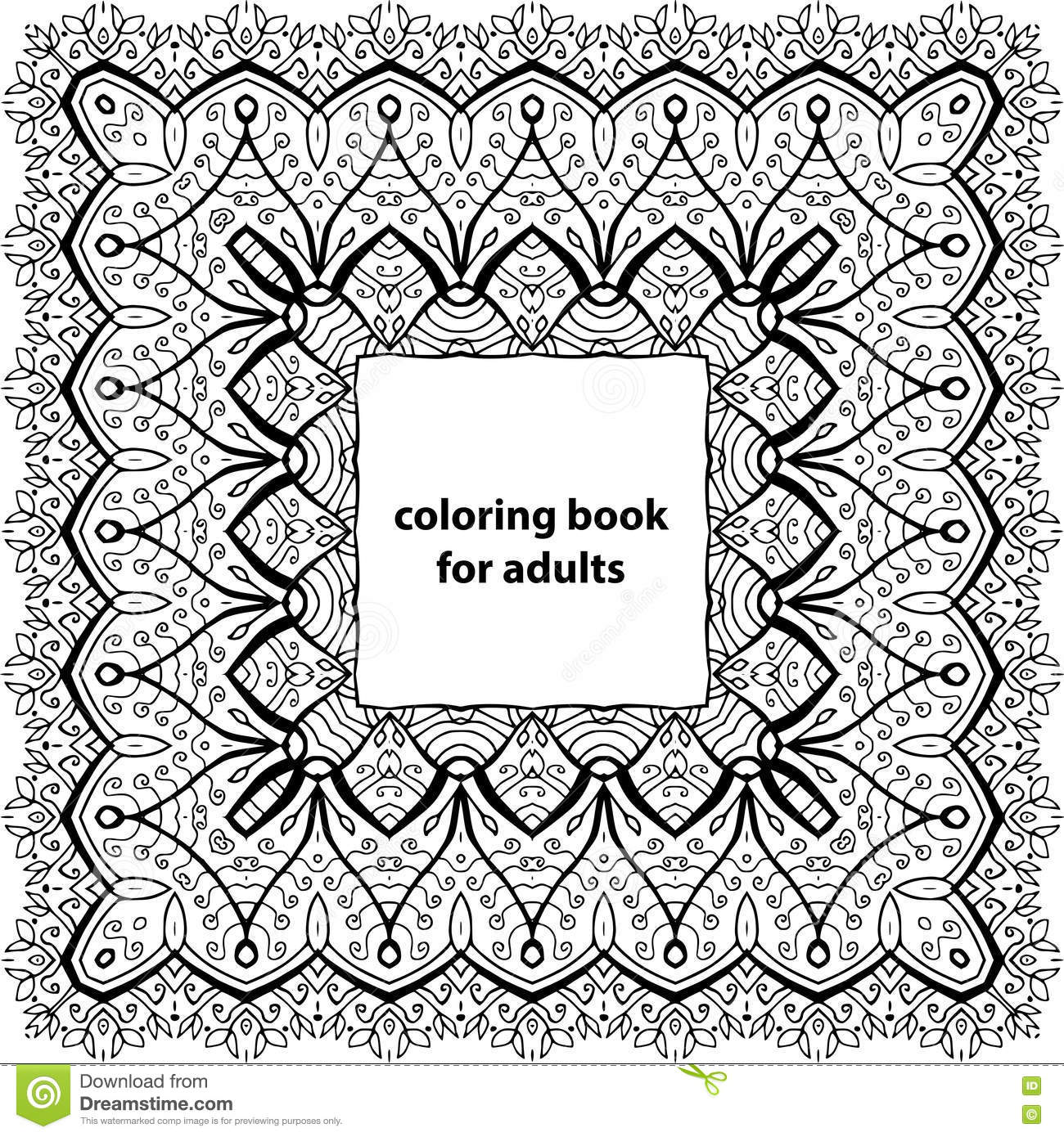 Coloring Book For Adults Zentangle Tribal Patterns Zenart