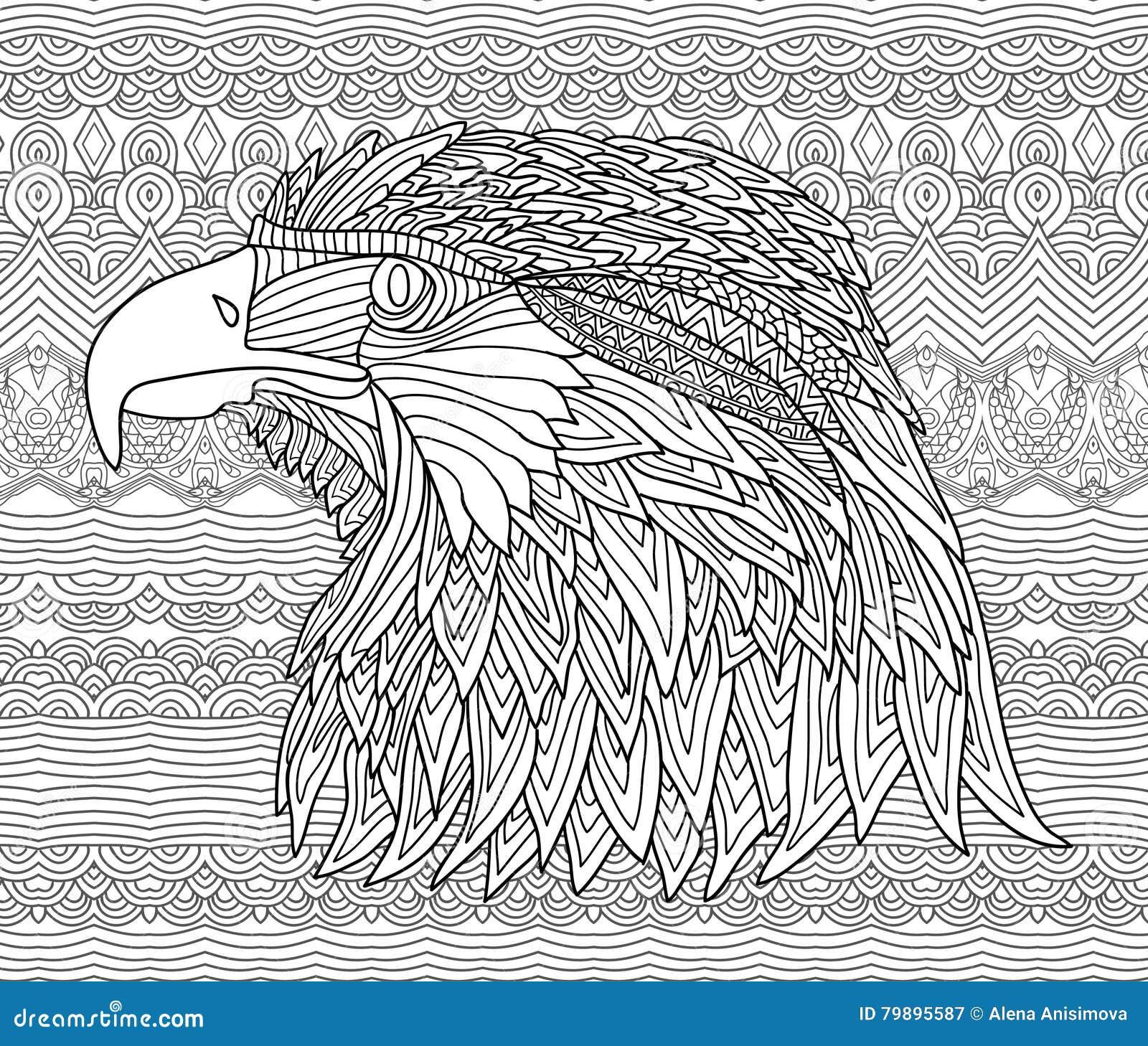Vector Illustration Decorative Bird On White Background
