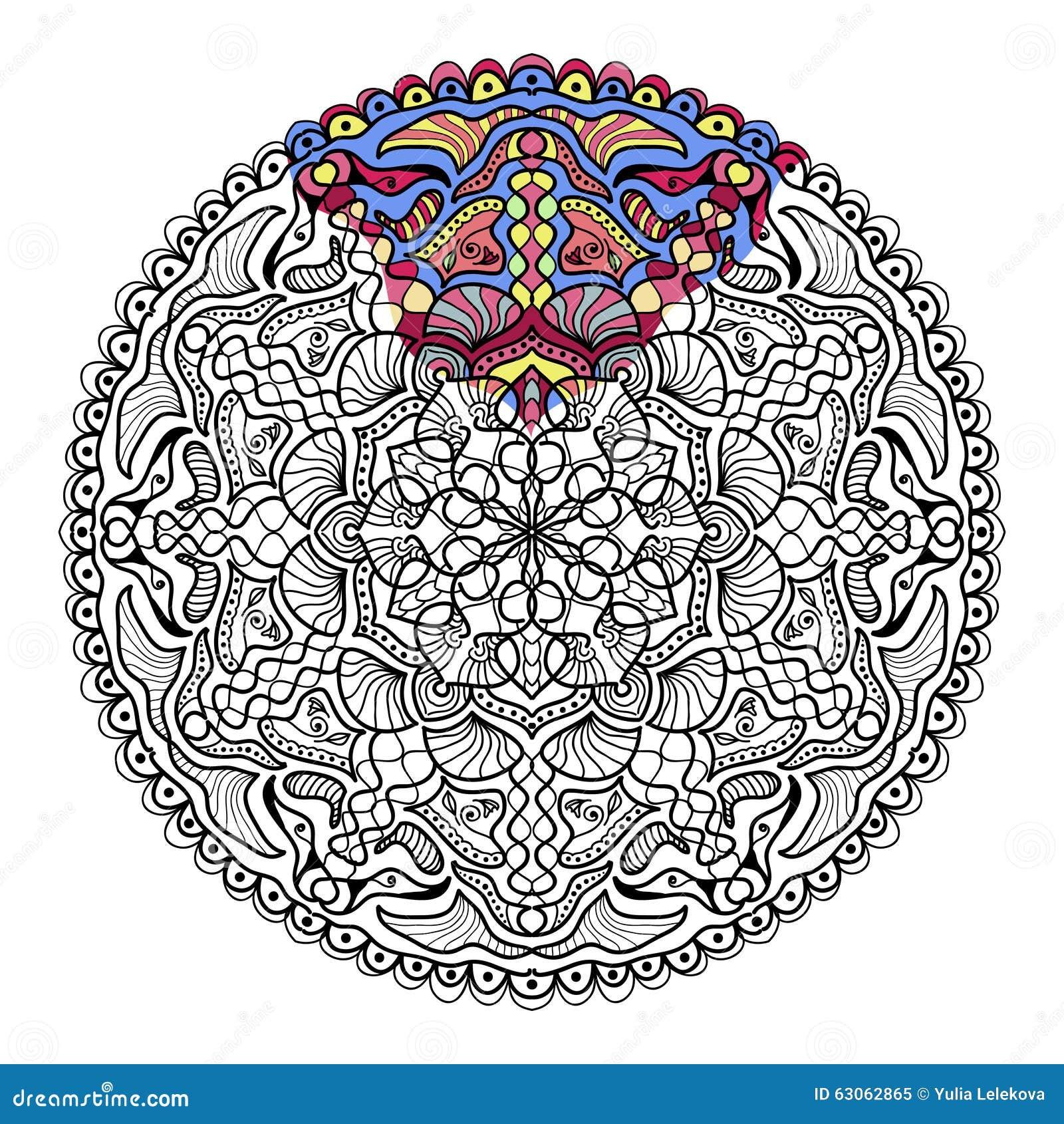 Zendala вектора для красить книжка раскраска для взрослых