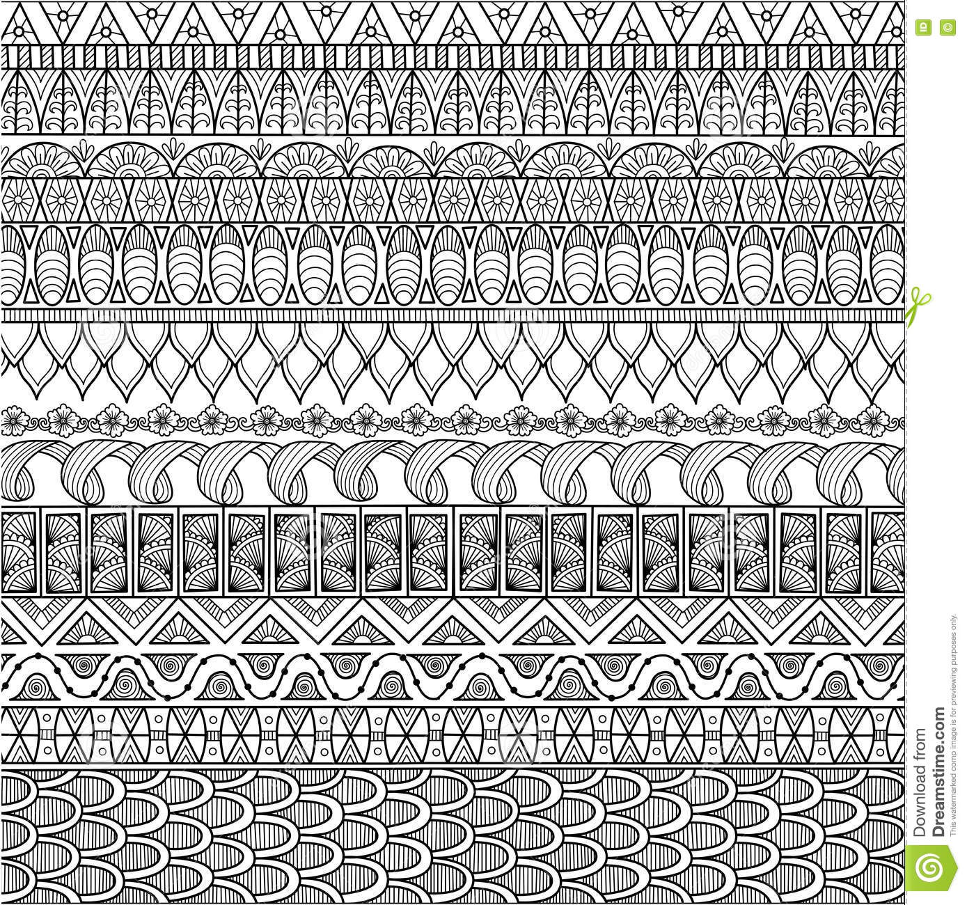 Zendoodle Design Of Background For Adult Coloring Book And Wallpaper ...