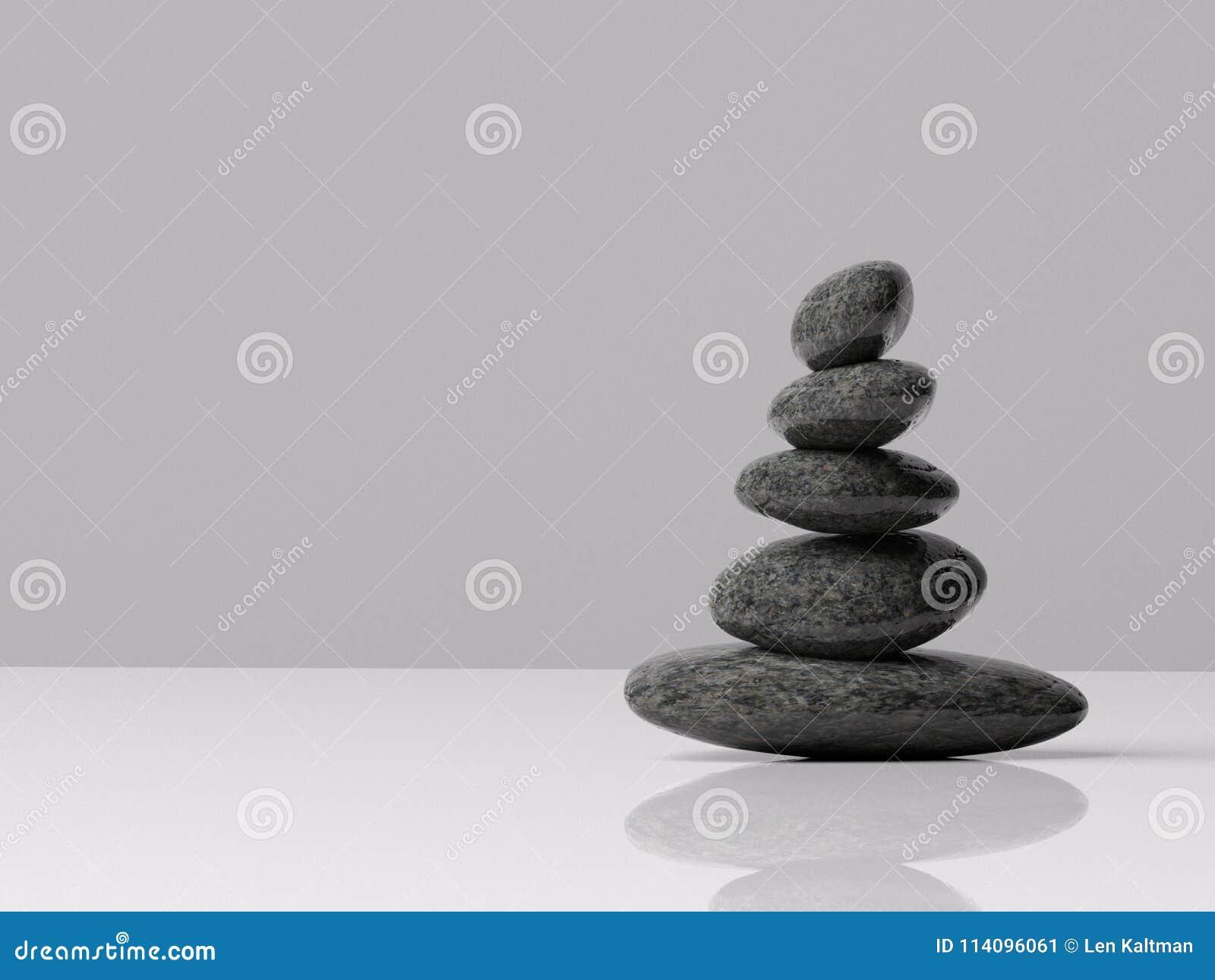 Zenen vaggar försiktigt balanserat inomhus med rum för typ