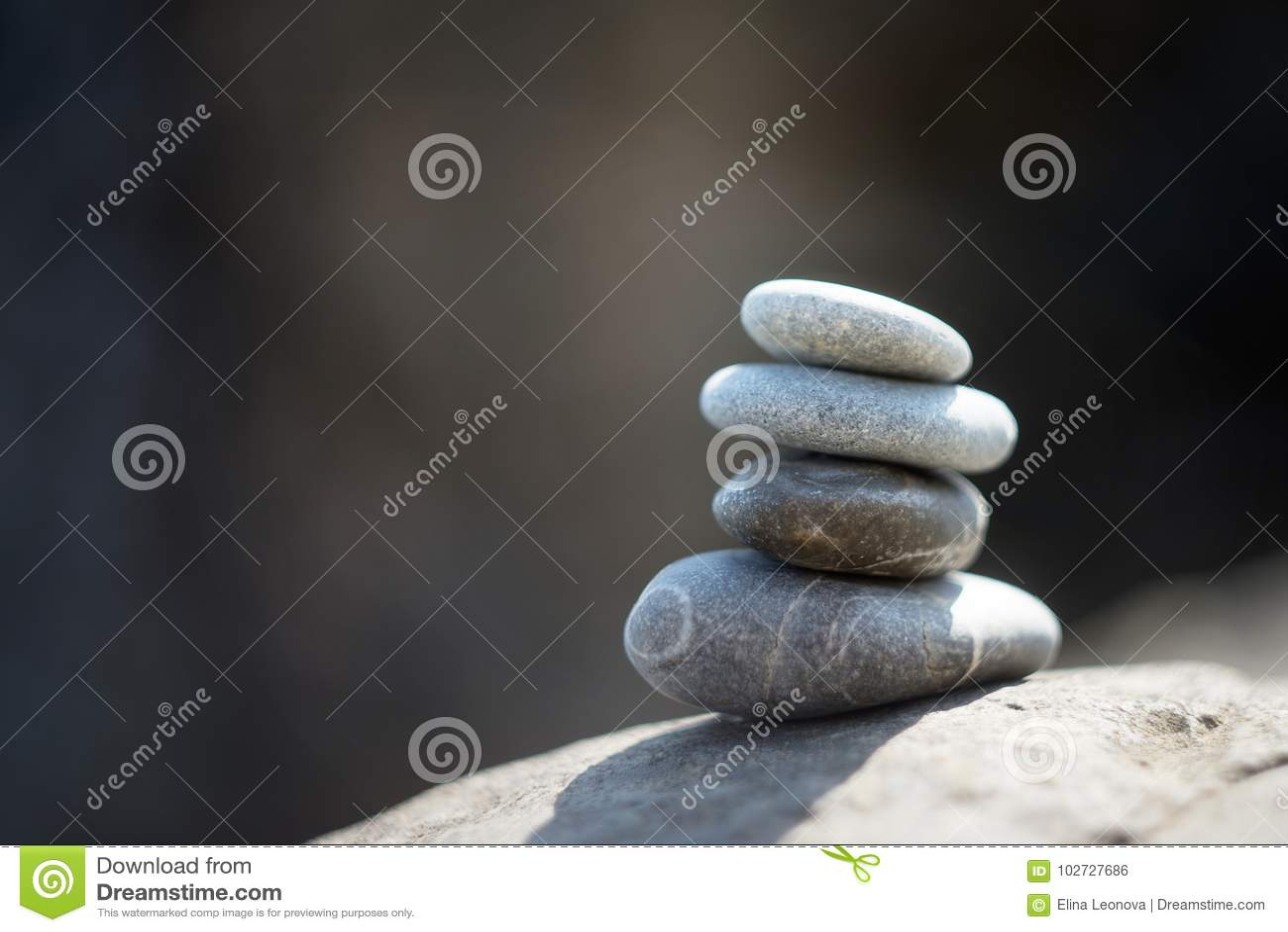 Zenstenen, meditatie Symbool van Boeddhisme tranquil