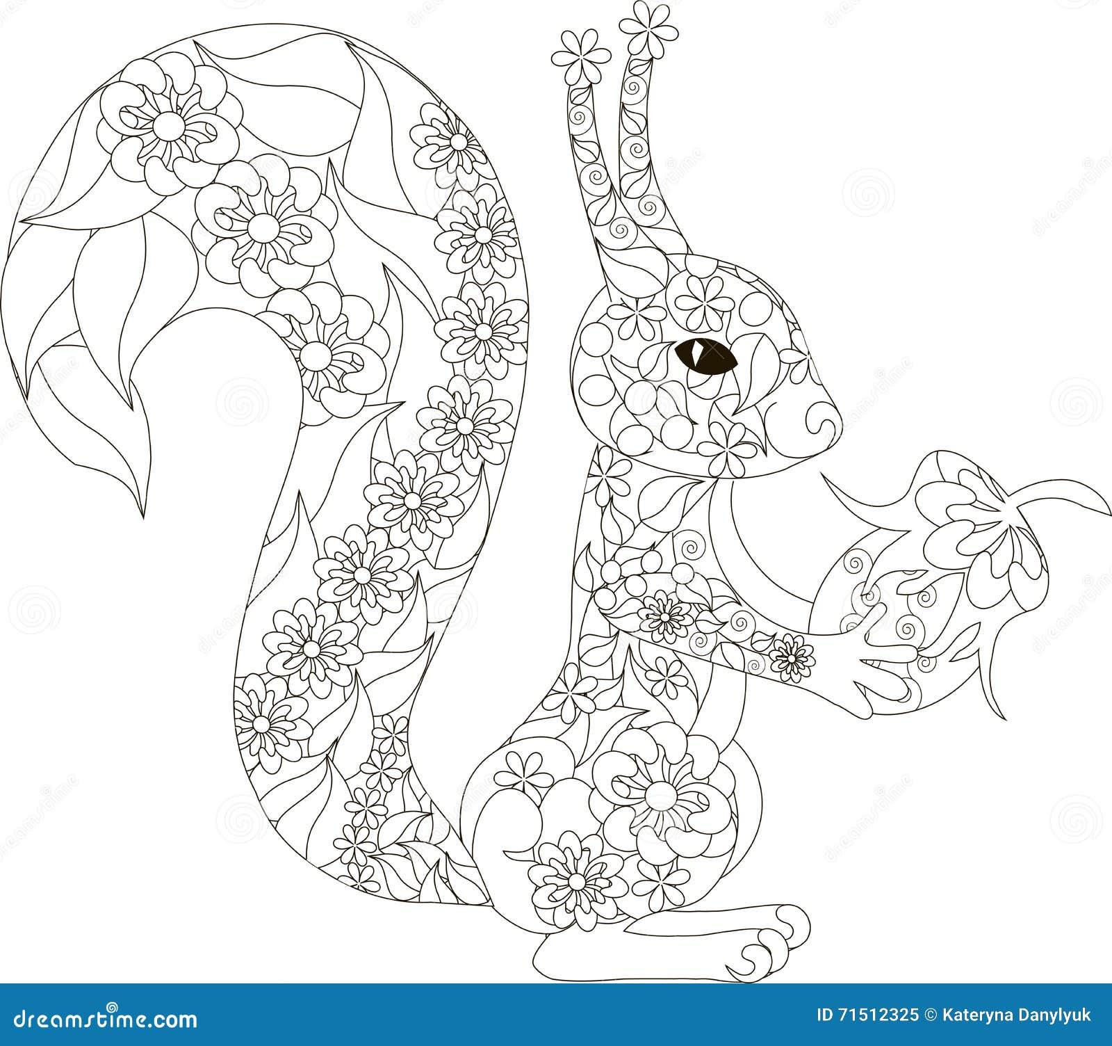 картинка нарисованная белка