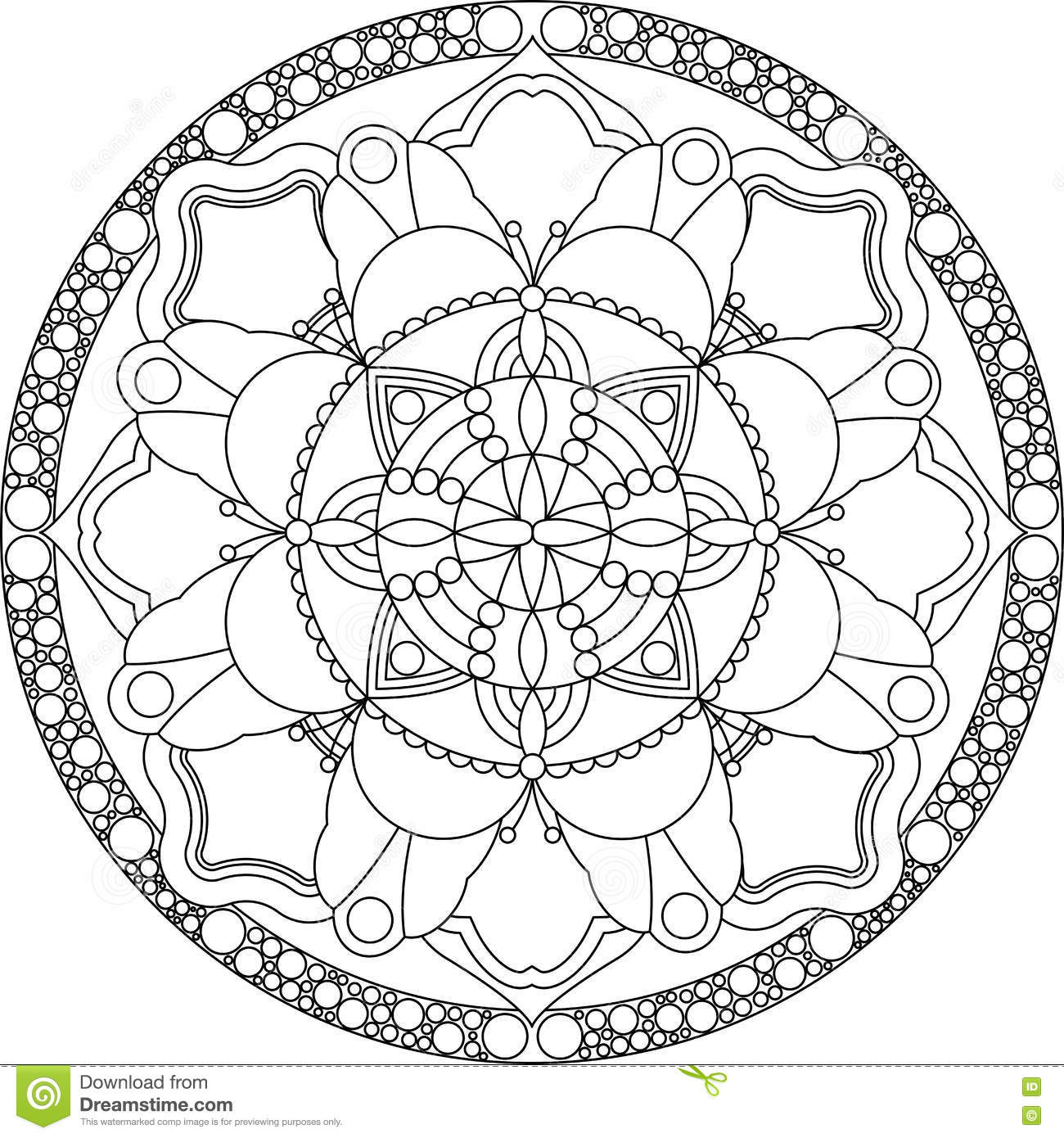 zentangle adult coloring page mandala stock vector illustration of pattern page 79970158. Black Bedroom Furniture Sets. Home Design Ideas