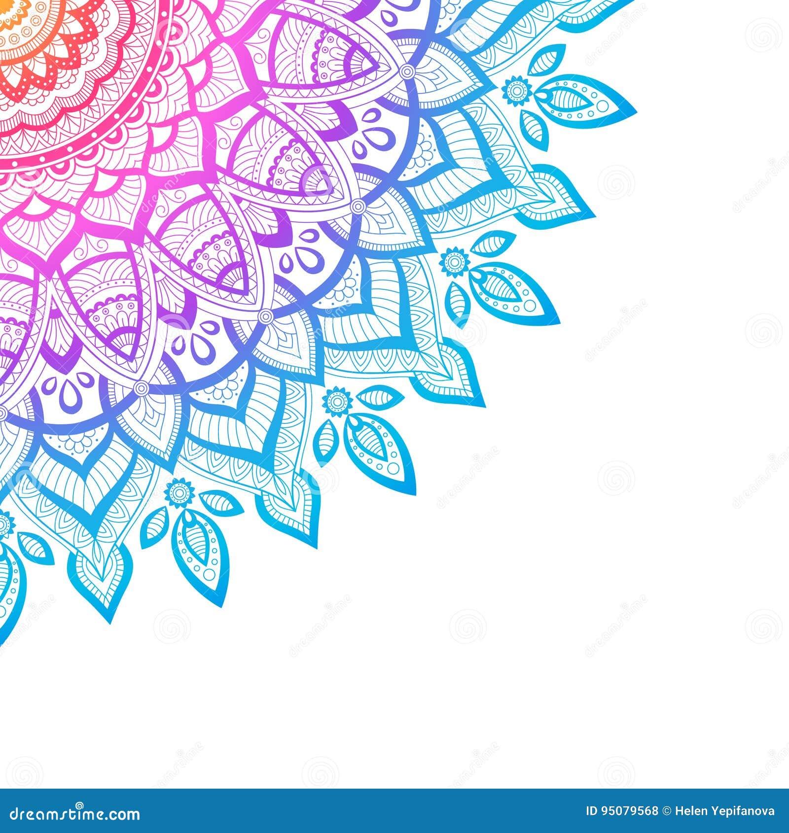 Zentangle background, wallpaper, texture, pattern. Round mandala, template for web design, postcards flyer poster advertising