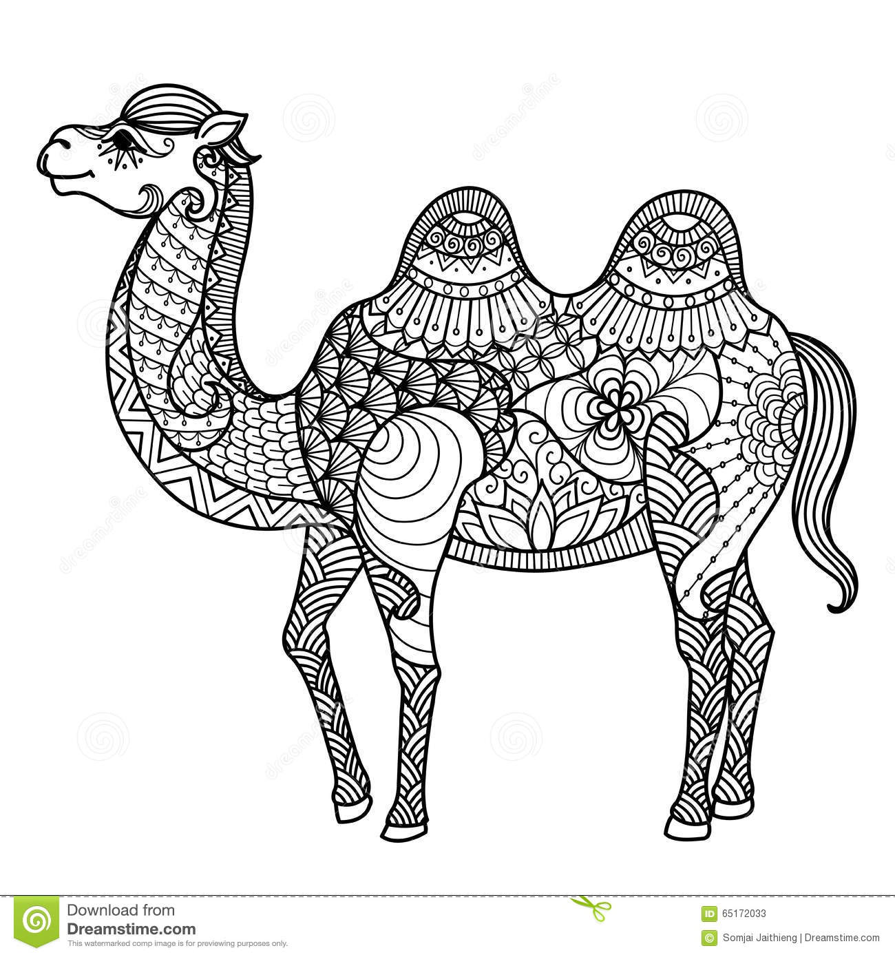 Page: Zentangle Camel Stock Vector. Illustration Of Design