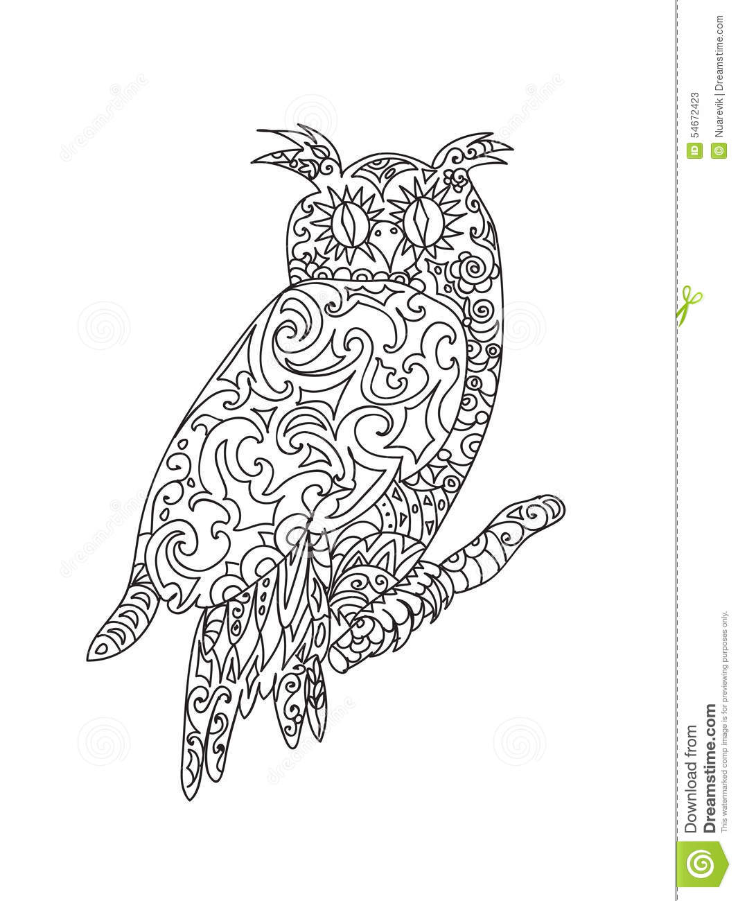 Coloring pages of owl