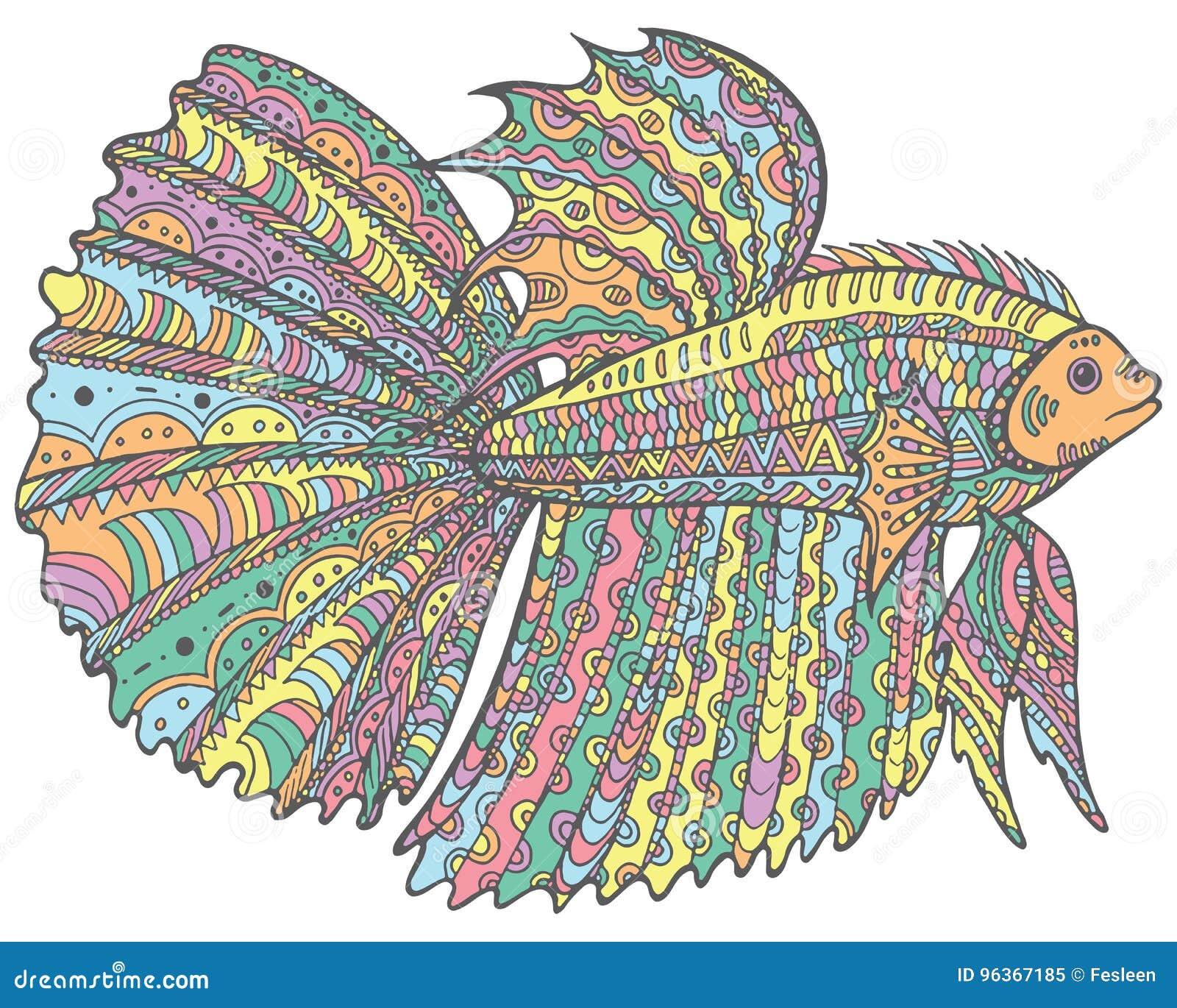 Zentangle Doodle Betta Fish