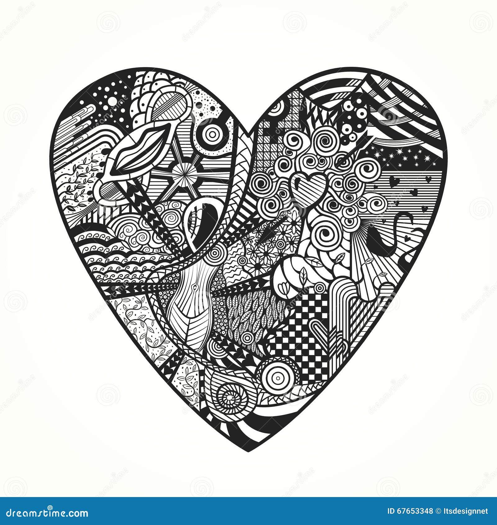 195 best images about Zenspirational Hearts on Pinterest ... |Zentangle Heart Graphics