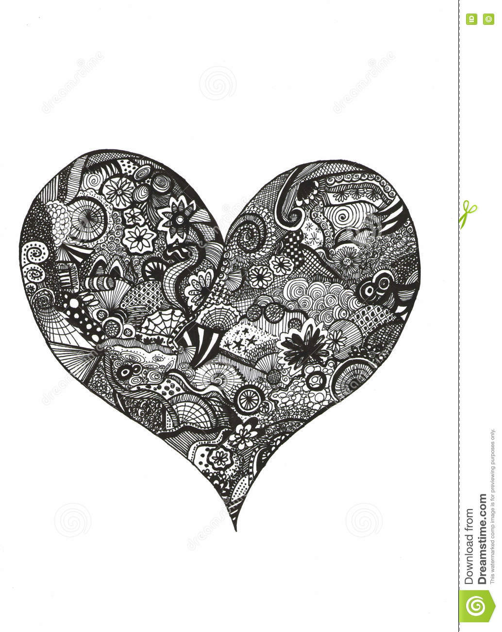 Zentangle Heart Stock Illustration Of Creativity