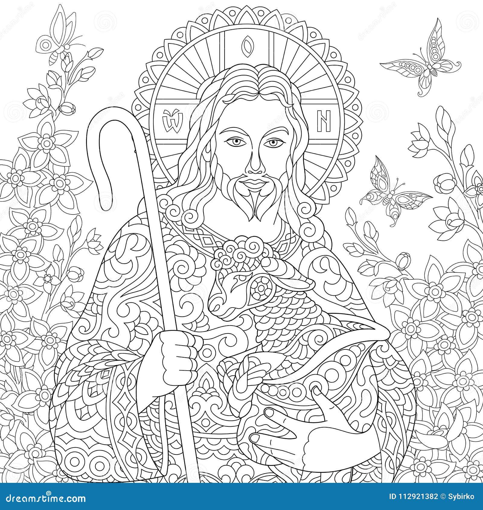 Zentangle Jesus Christ Ilustracao Do Vetor Ilustracao De Artwork