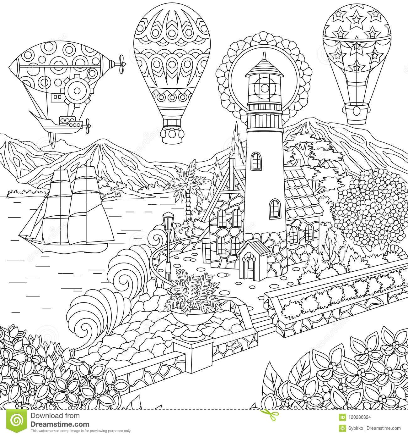 Line Drawing Of Balloons - Balloon Coloring Pages, HD Png Download ... | 1390x1300
