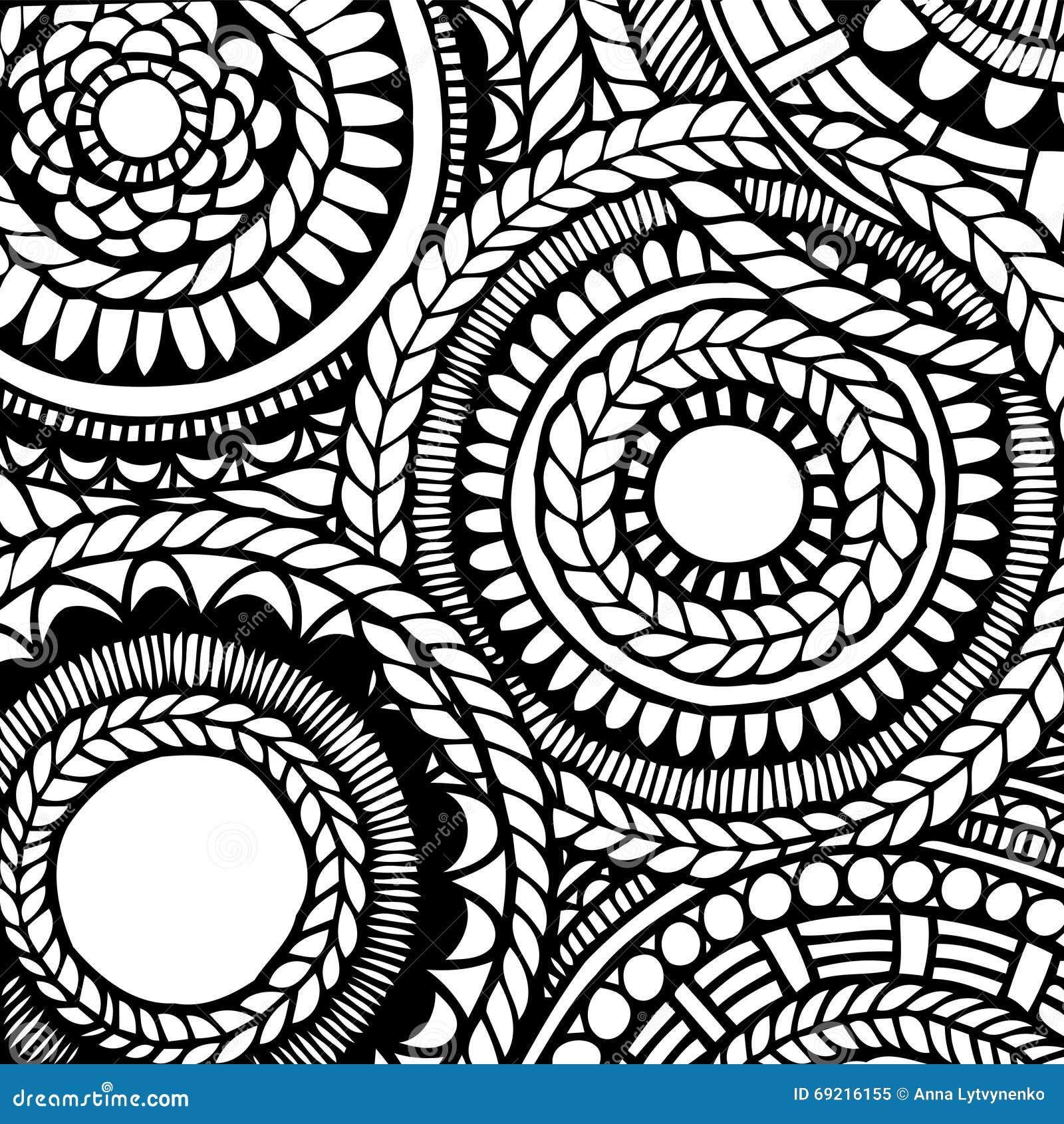 download zentangle muster vektor abbildung illustration von zeile 69216155 - Zentangle Muster
