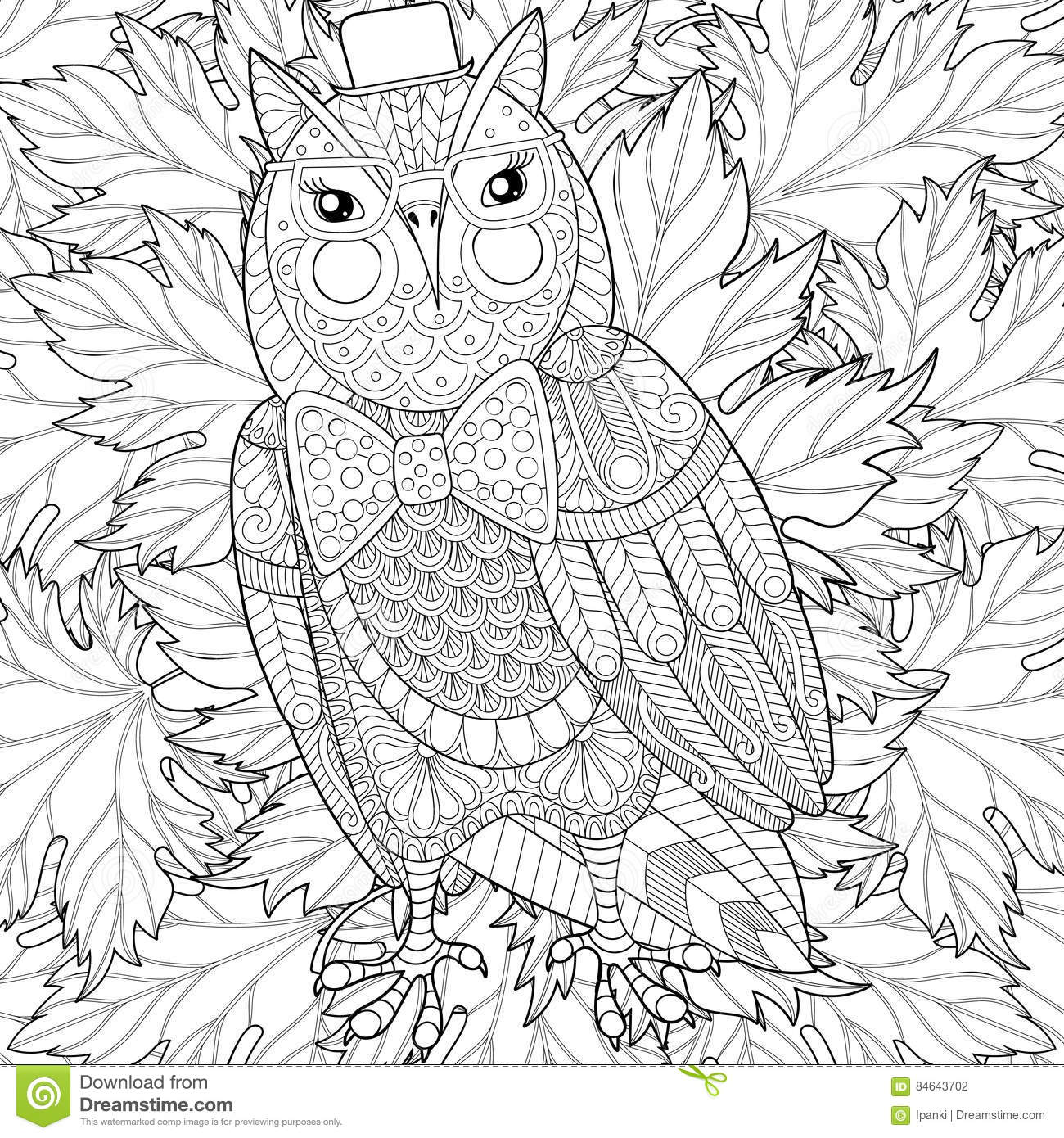 Royalty Free Vector Adult Background Bird Book Coloring