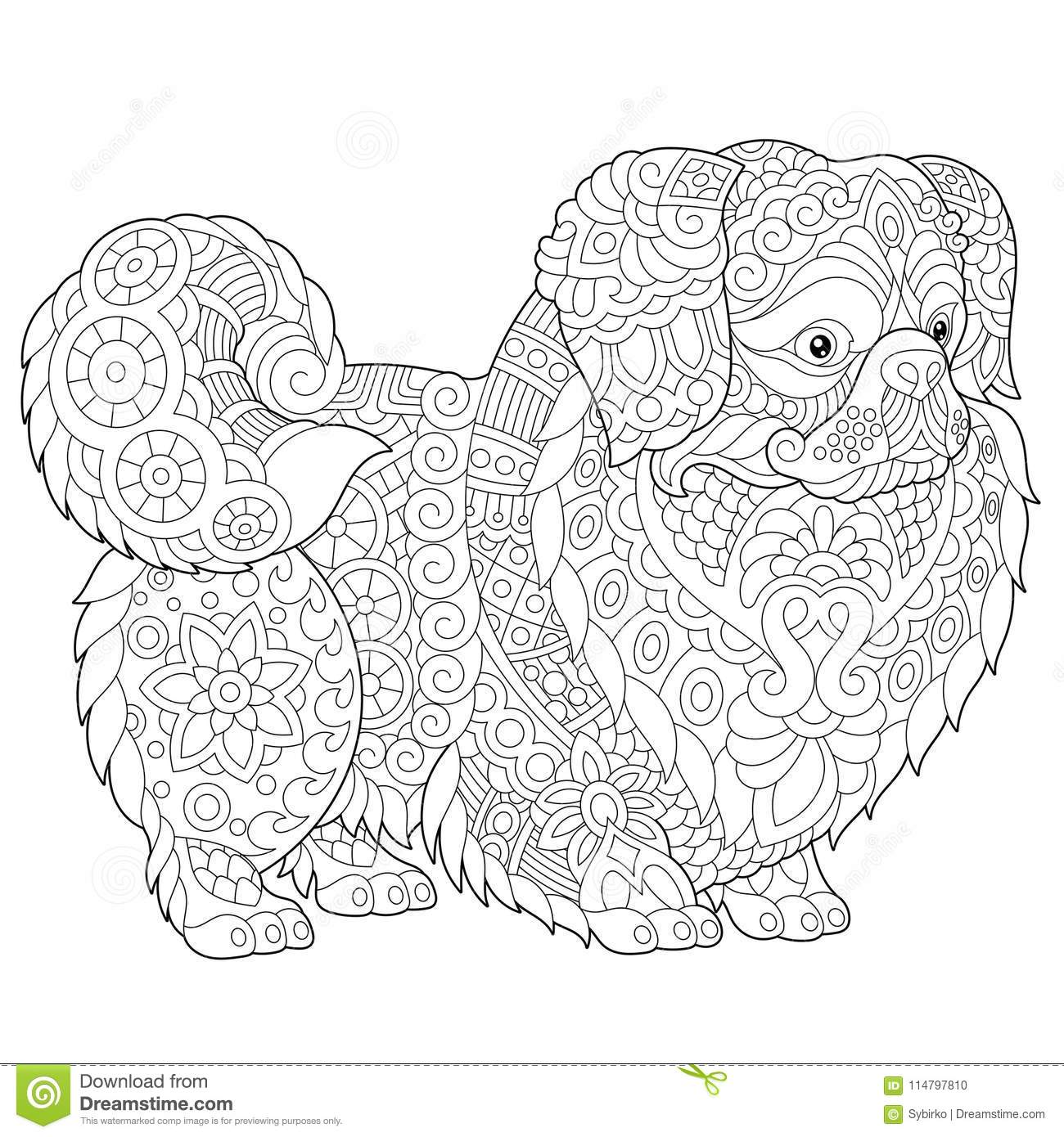 Zentangle pekineshund