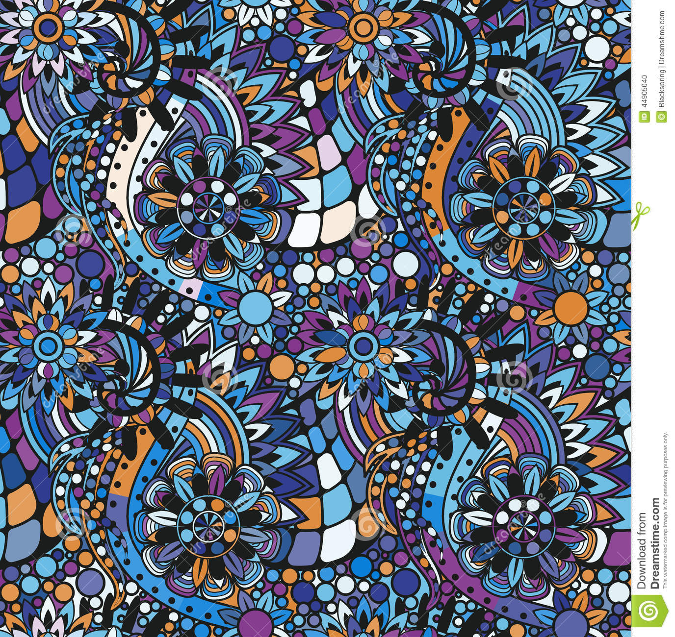 Zentangle Seamless Pattern Stock Vector Image 44905040
