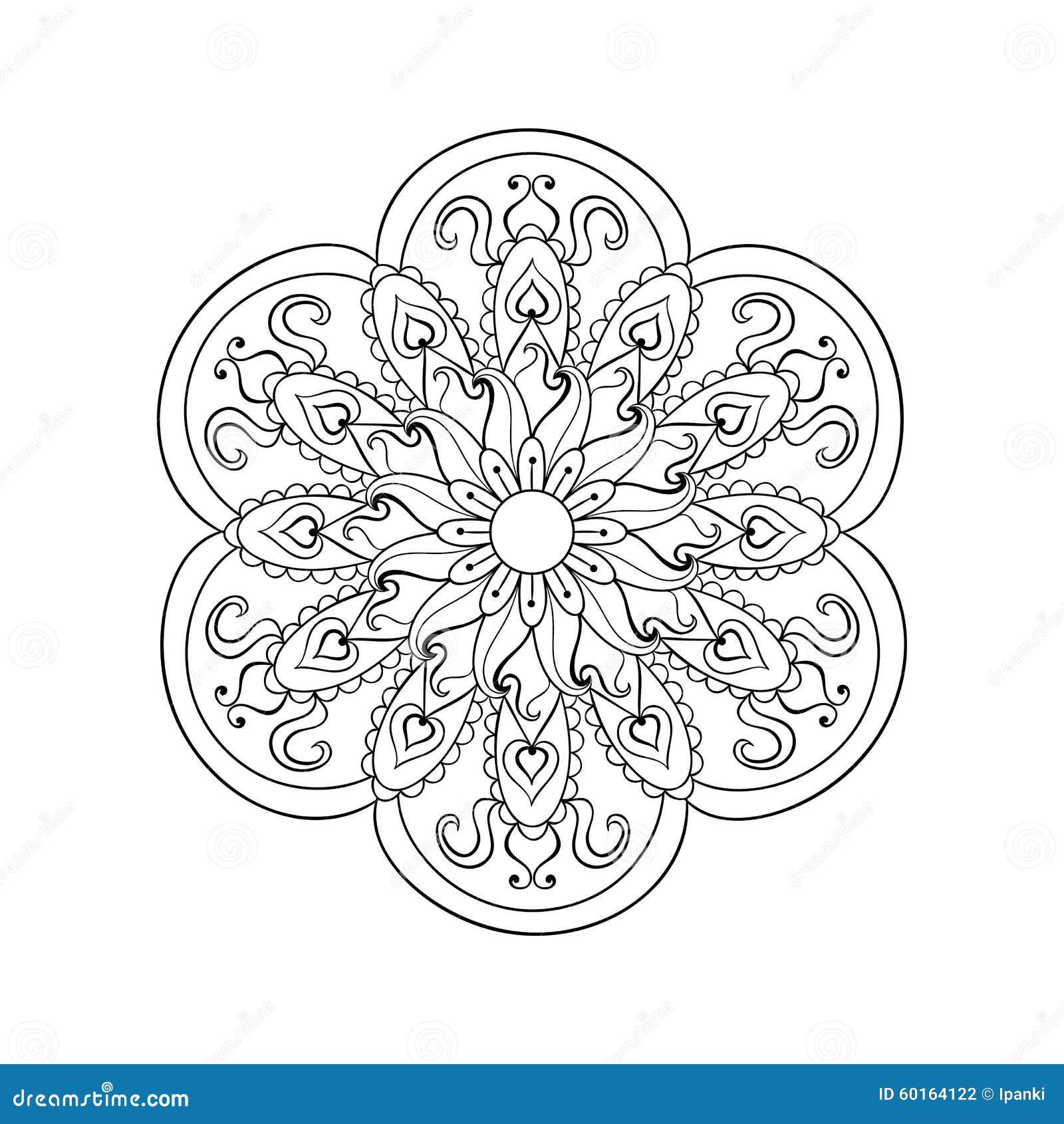 zentangle stilisierte arabische, indische mandala hand