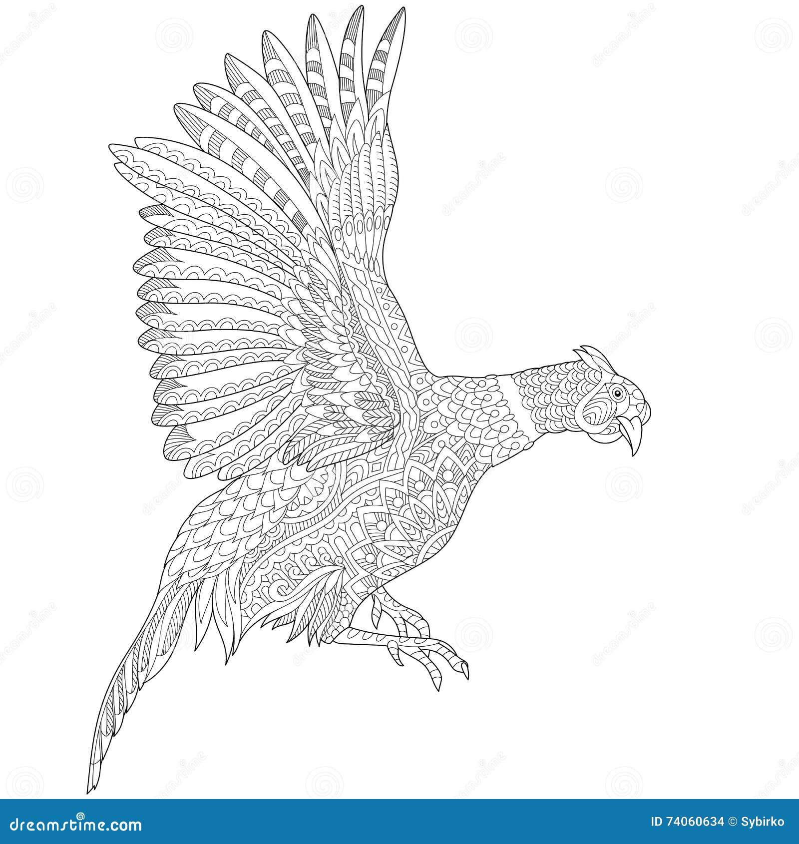 Zentangle stilisierte Fasanvogel