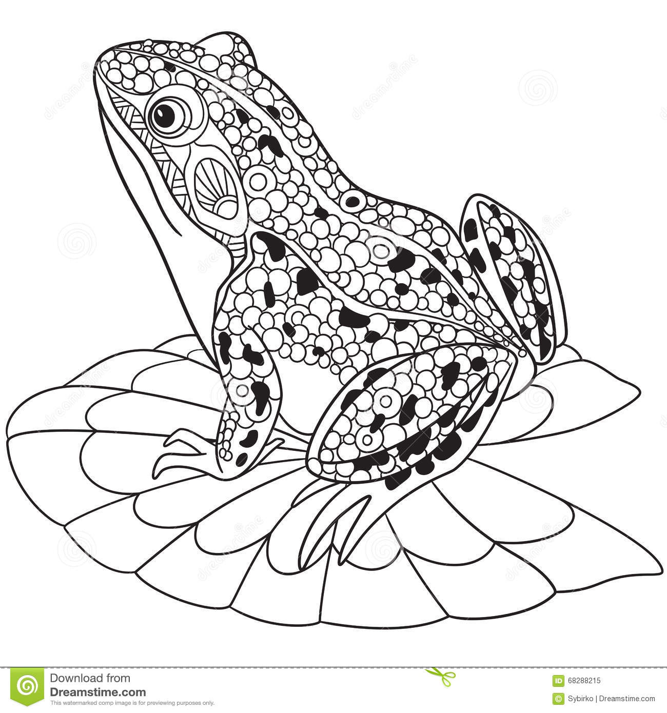Frog Pattern Coloring Page