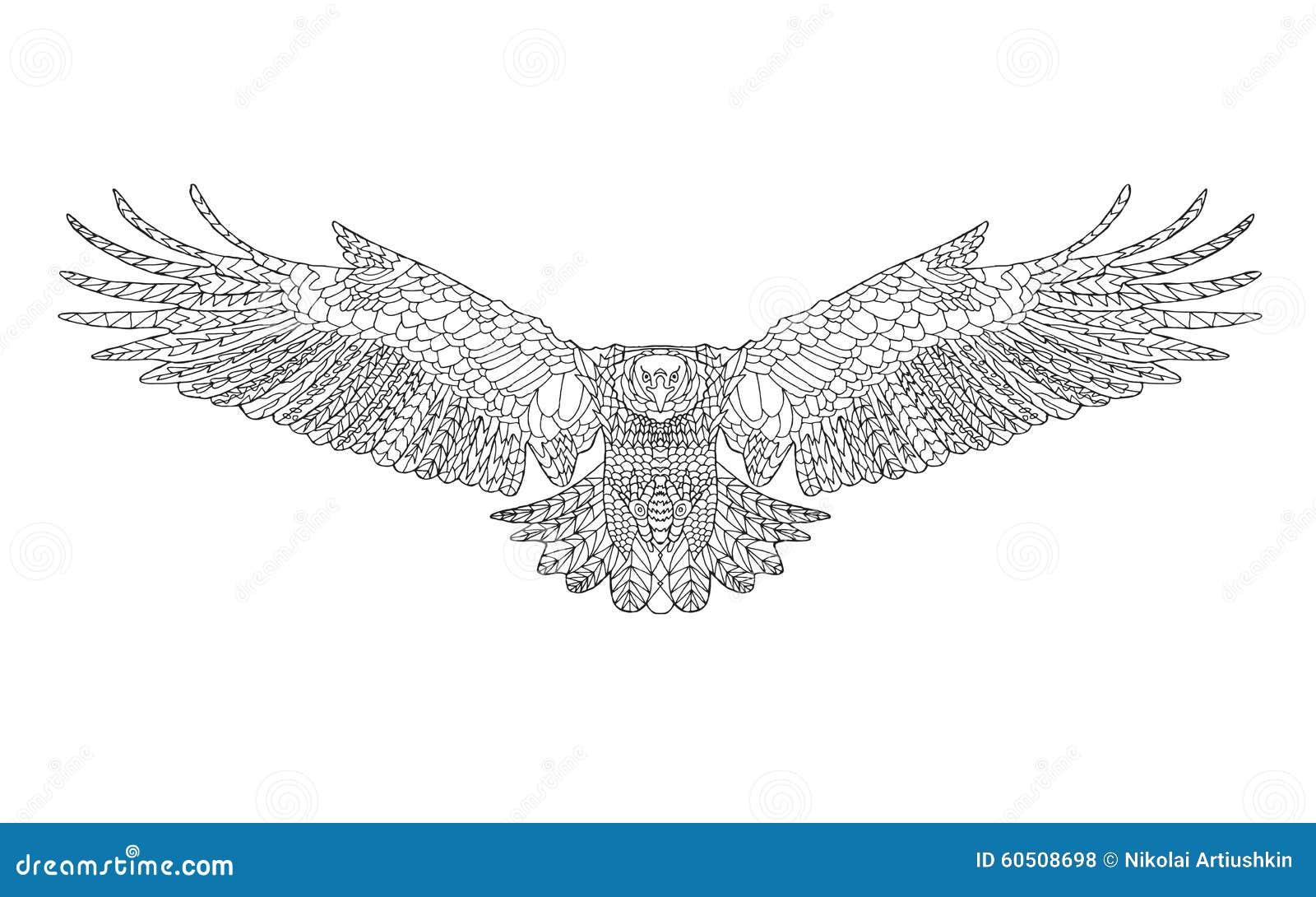 Zentangle A Stylis 233 L Aigle Croquis Pour La Page De
