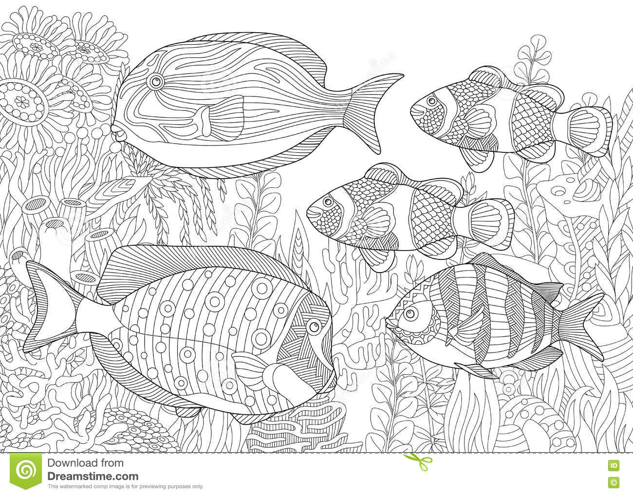 aquarium plants coloring pages - photo#19