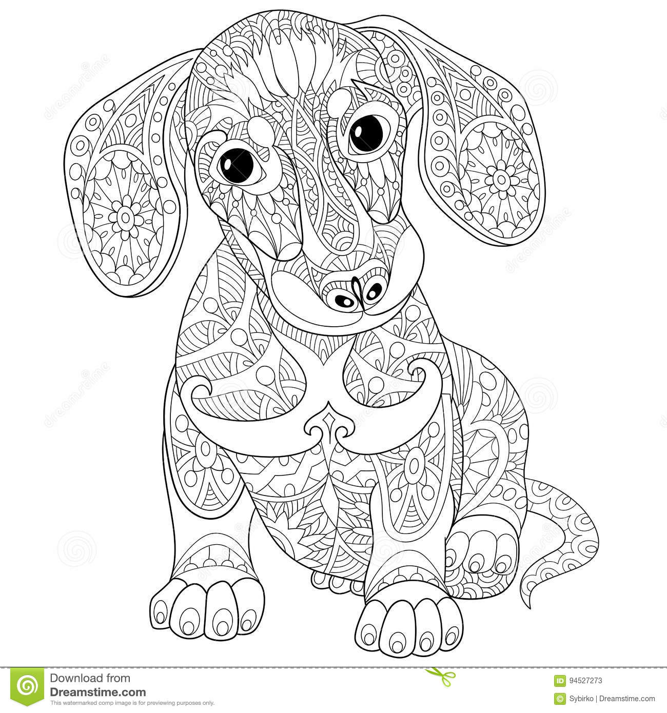 Mobile Adult Coloring Pages Dachshund Coloring Pages