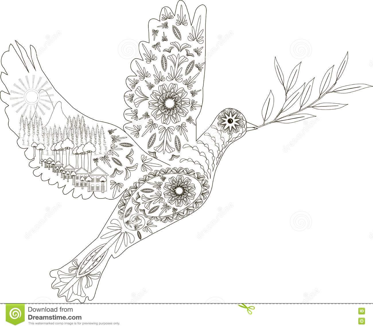 free vector graphic bird branch dove flight olive