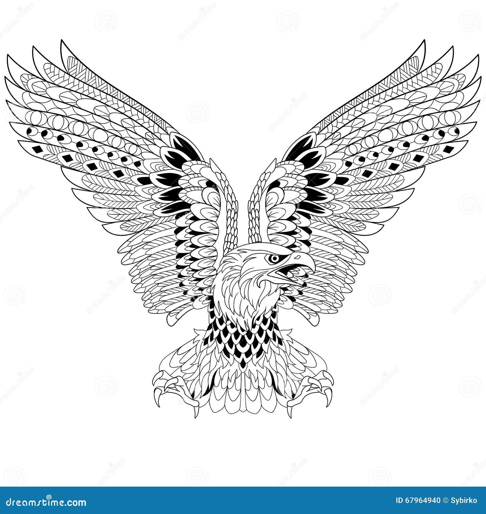 Zentangle Stylized Eagle Stock Vector Image 67964940