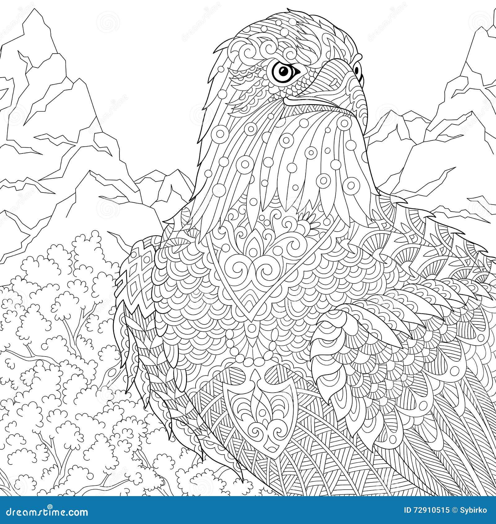 zentangle stylized eagle stock vector image 72910515